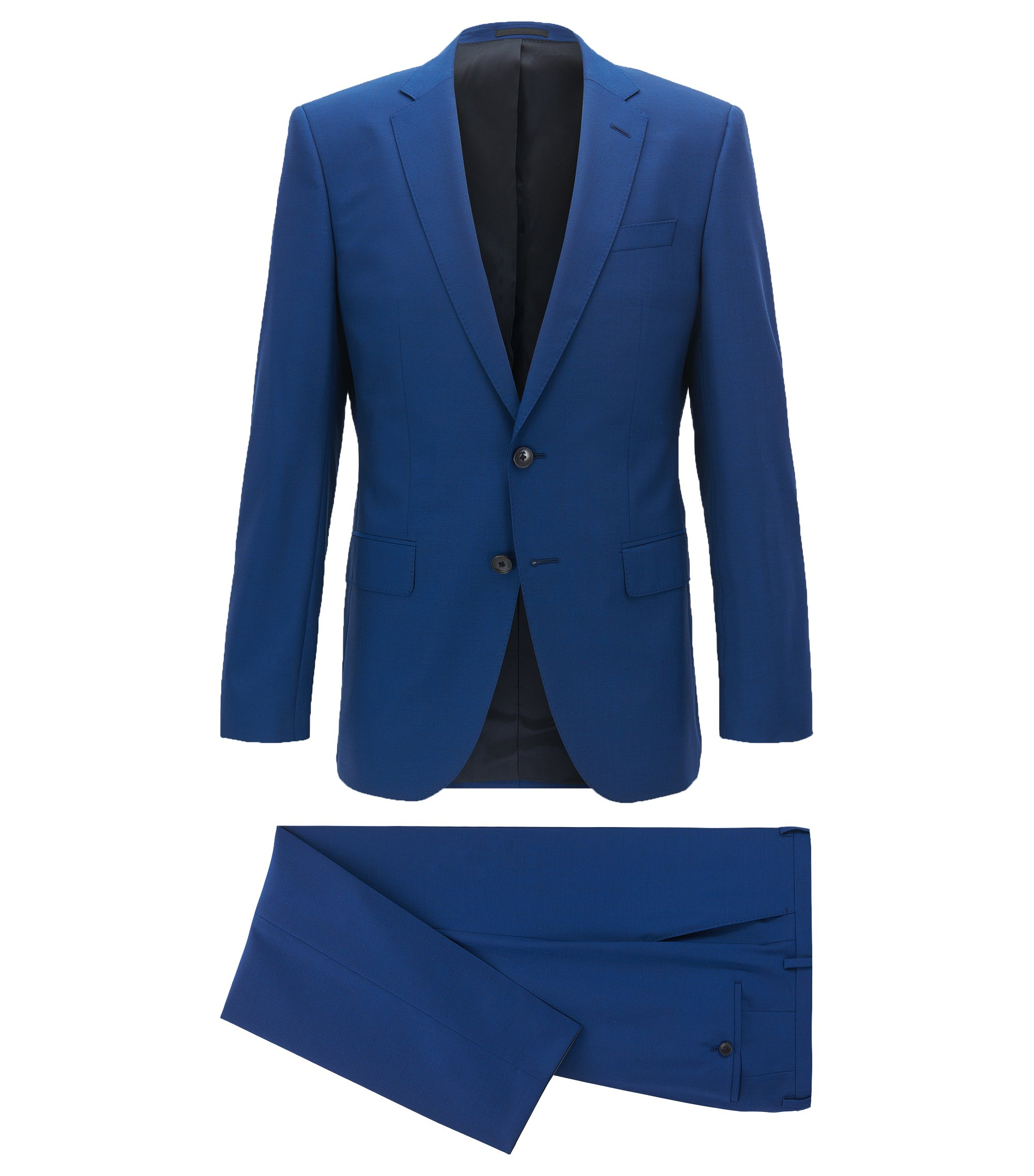 Virgin Wool Suit, Slim Fit | Huge/Genius, Blue