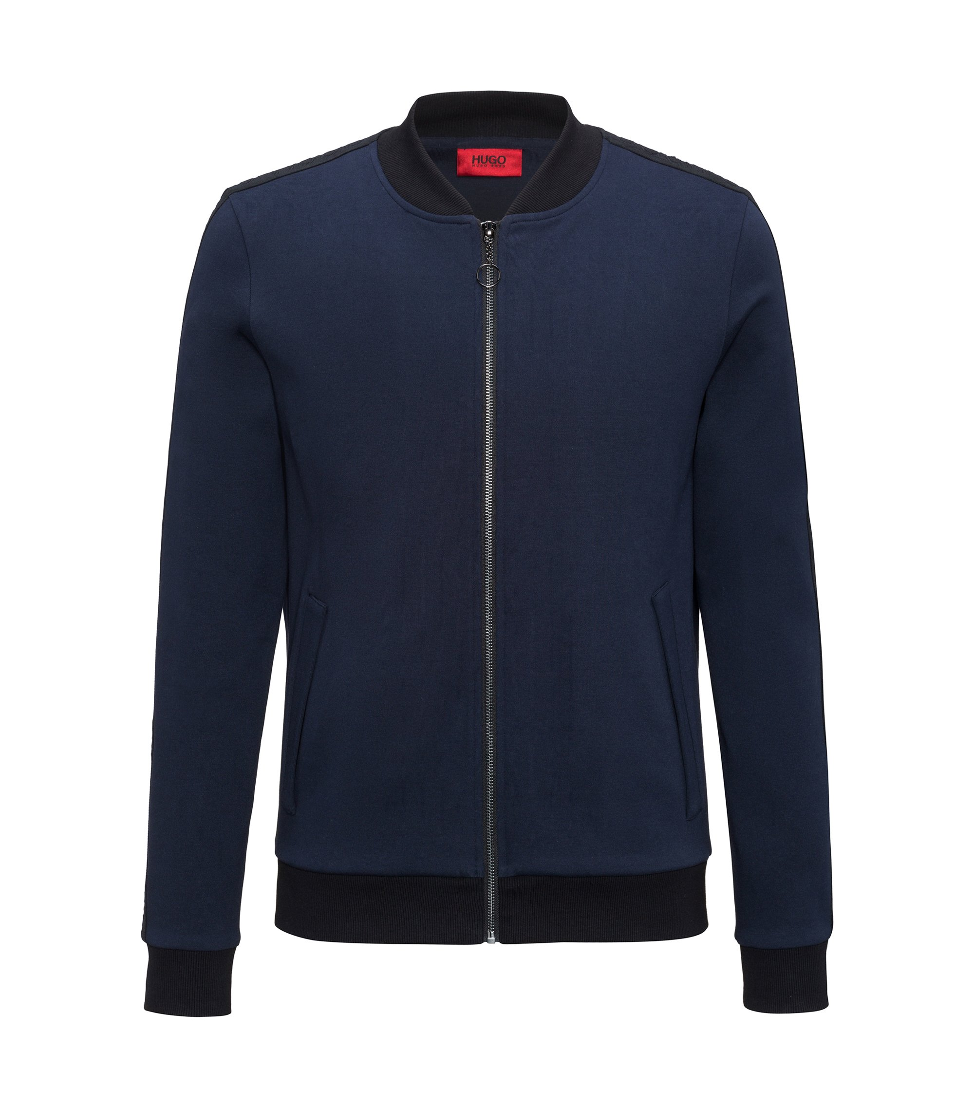 Cotton Full-Zip Sweat Jacket | Dacido, Dark Blue