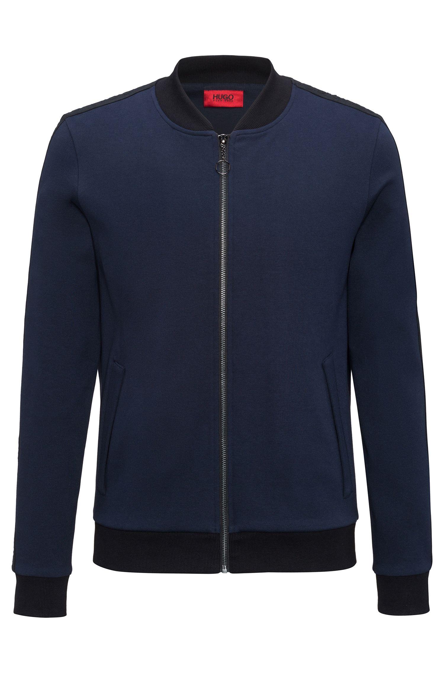 Cotton Full-Zip Sweat Jacket | Dacido, Dark Blue