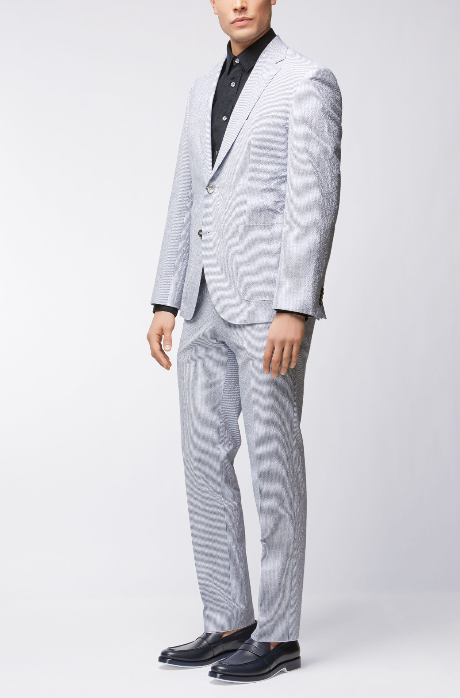 Stretch Seersucker Suit, Regular Fit | Janon/Lenon