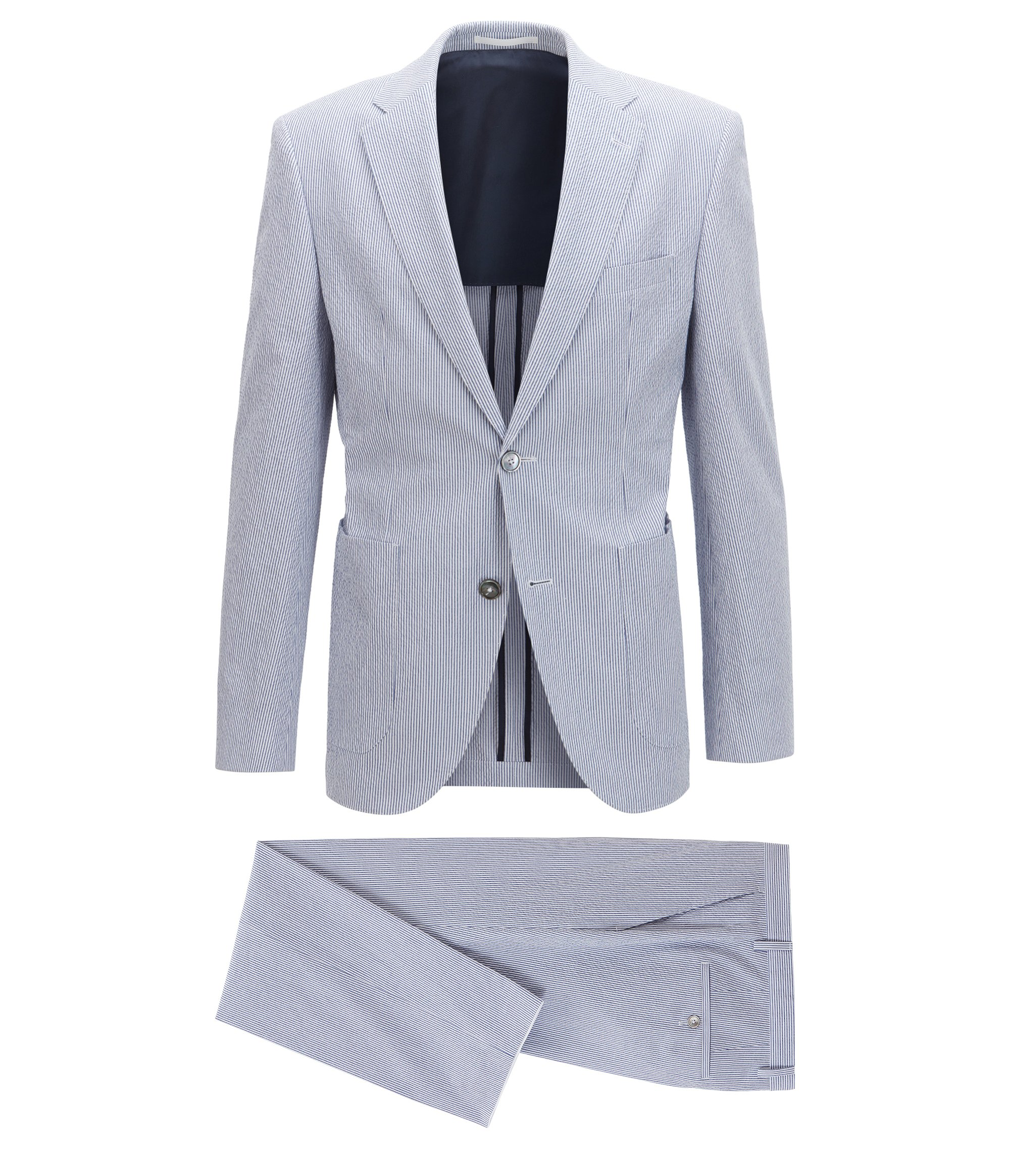 Stretch Seersucker Suit, Regular Fit | Janon/Lenon, Light Blue