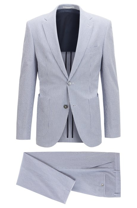 f5ad4ca1c2c Stretch Seersucker Suit, Regular Fit | Janon/Lenon, Light Blue