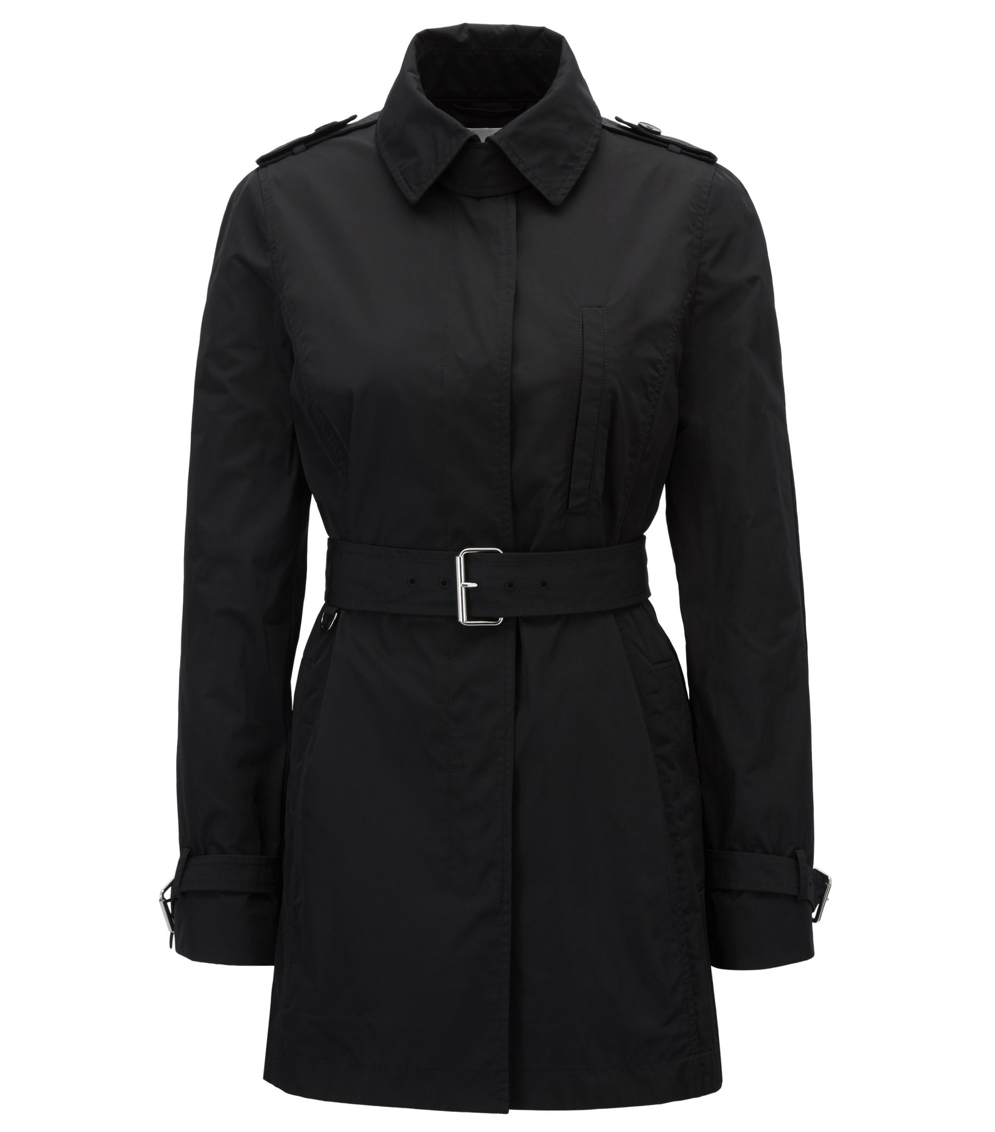 Water-Repellent Trench Coat | Cirolie, Black