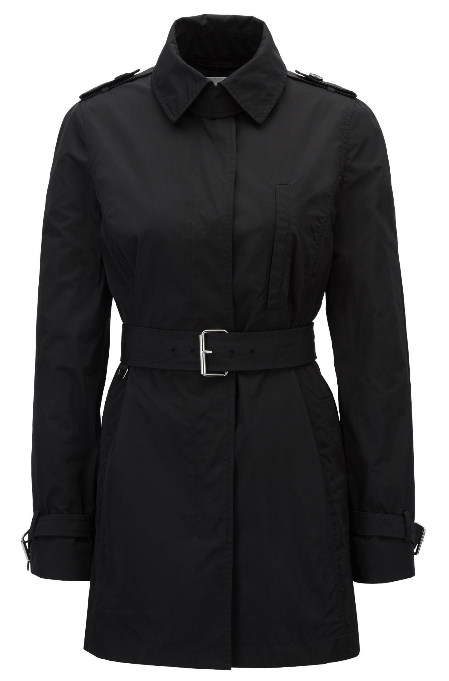 Water-Repellent Trench Coat | Cirolie, Black