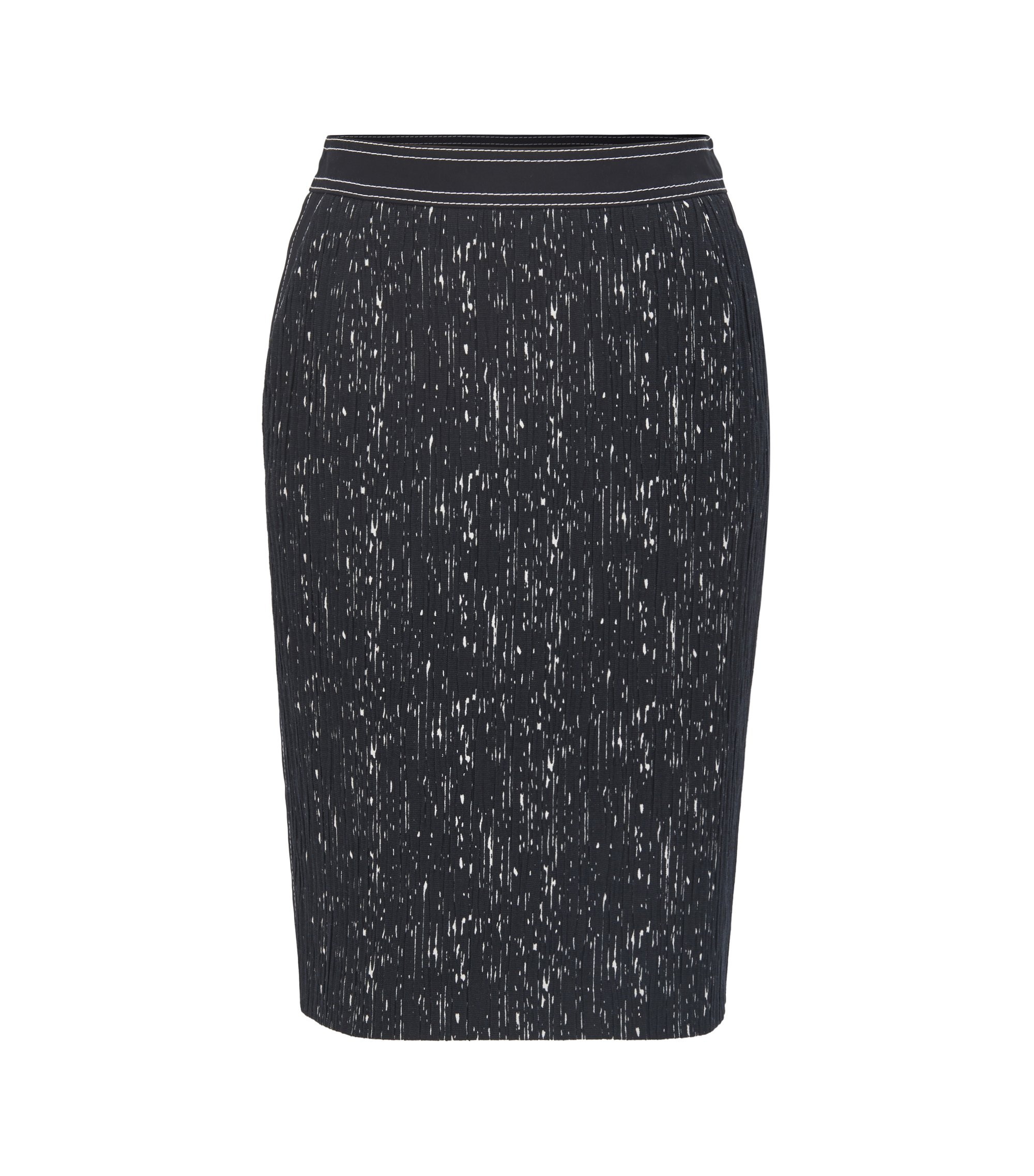 Patterned Plissé Pencil Skirt | Veleara, Patterned