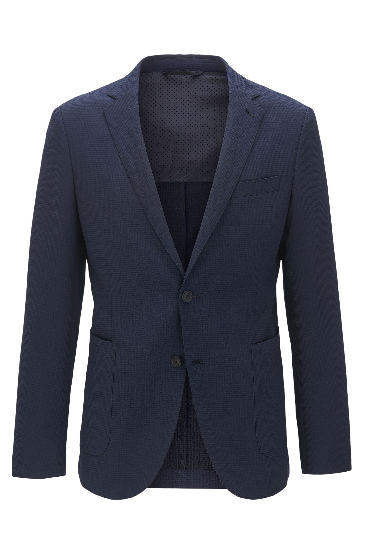 Virgin Wool Blend Sport Coat, Slim Fit | Nelven
