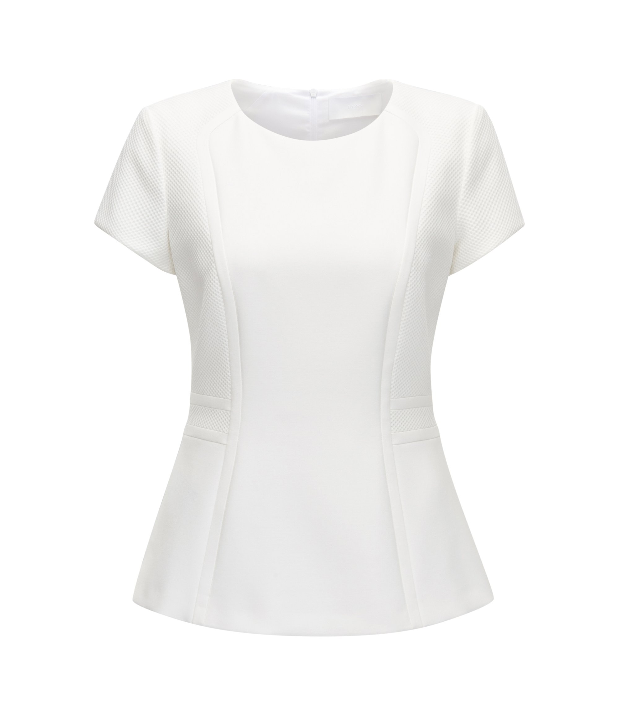 Paneled Peplum Top | Idama, Natural
