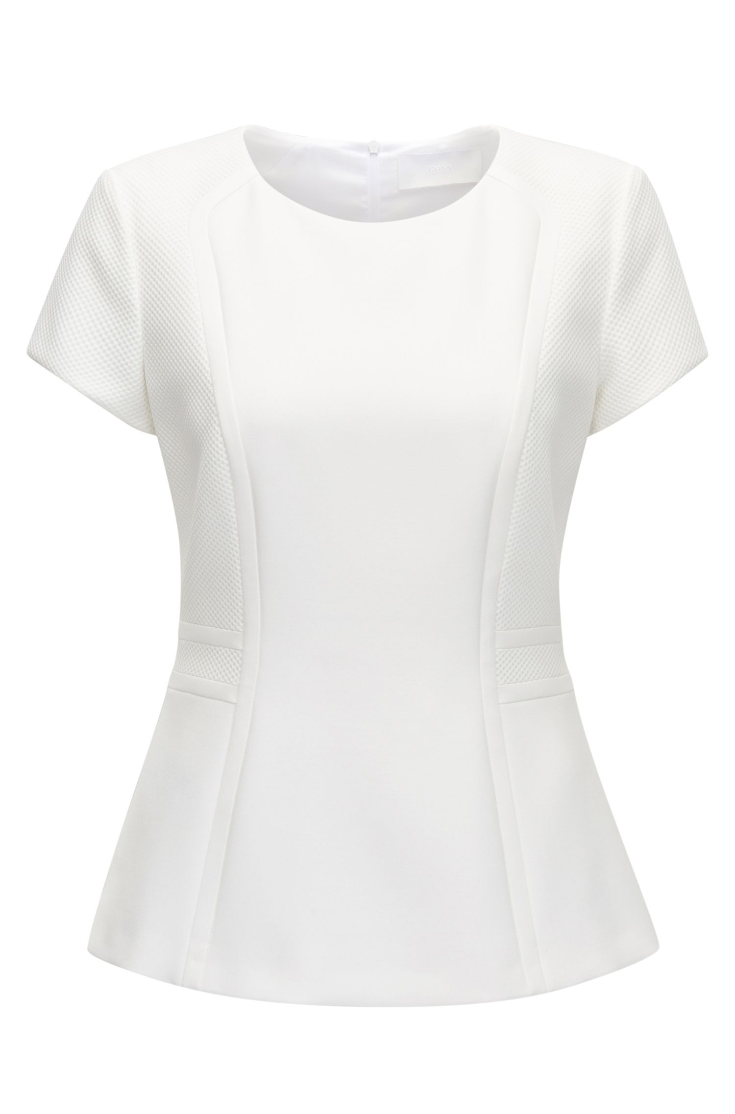 Paneled Peplum Top | Idama