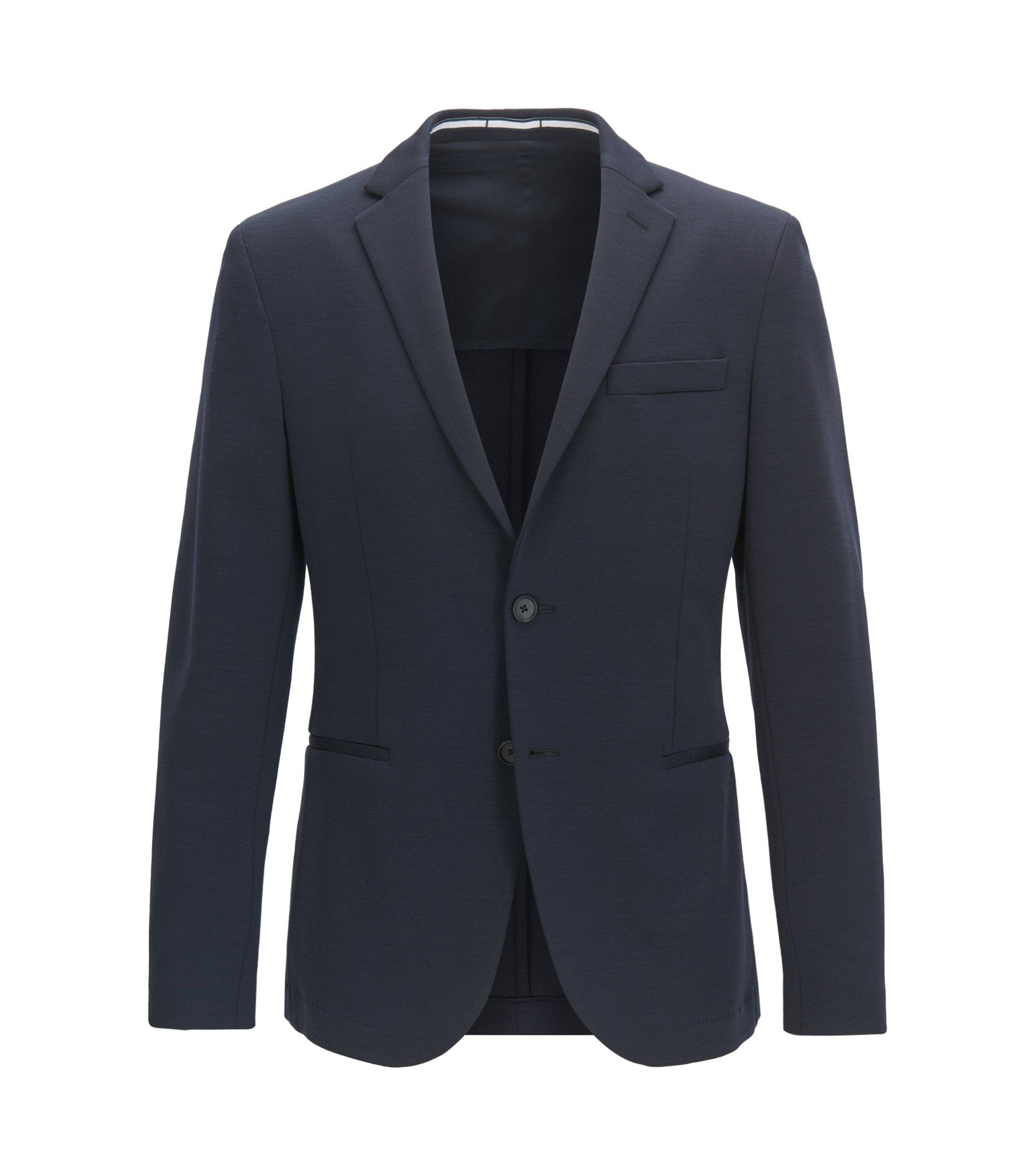 Stretch Wool Blend Sport Coat, Slim Fit | Norwin J, Dark Blue