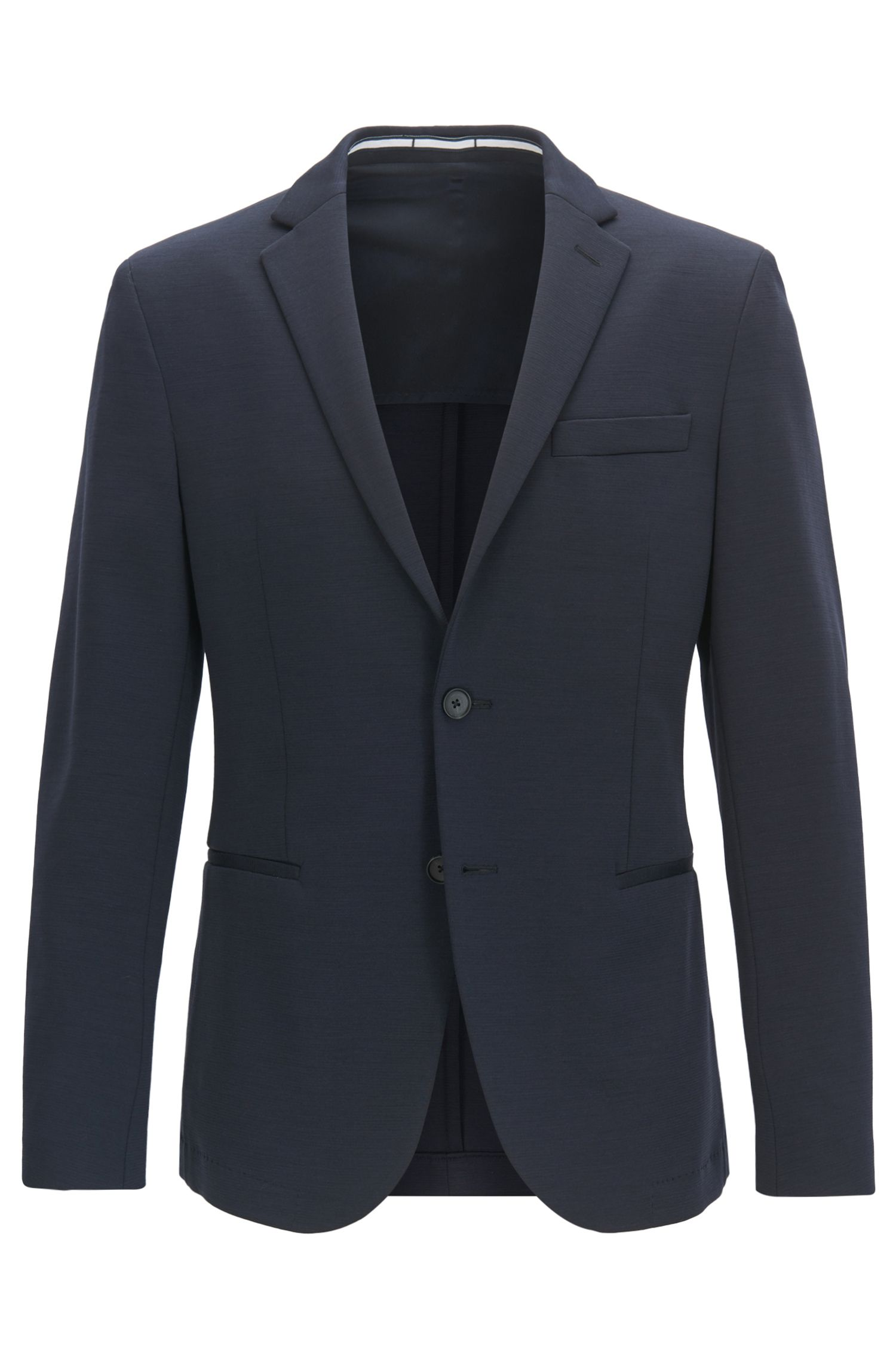 Stretch Wool Blend Sport Coat, Slim Fit | Norwin J, Dark Blue