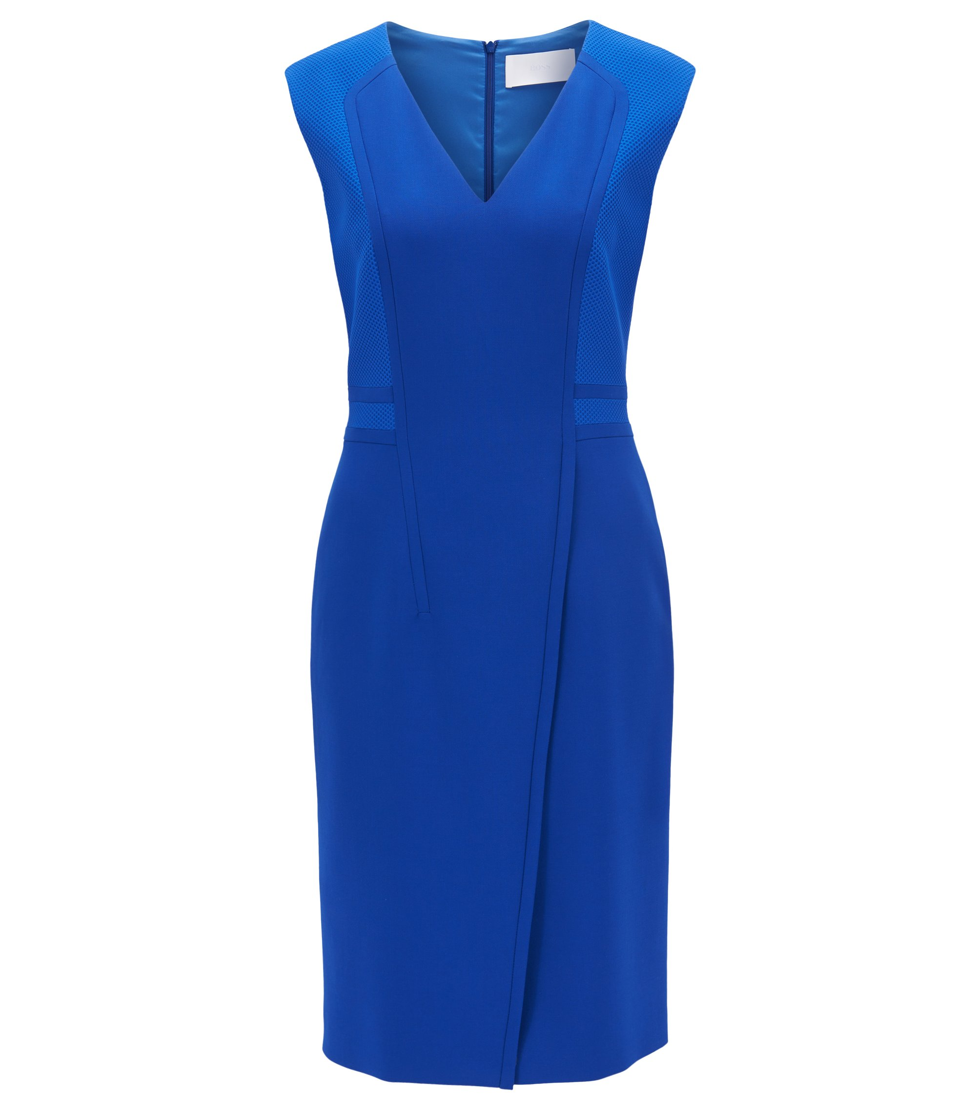 V-Neck Sheath Dress | Dadama, Blue