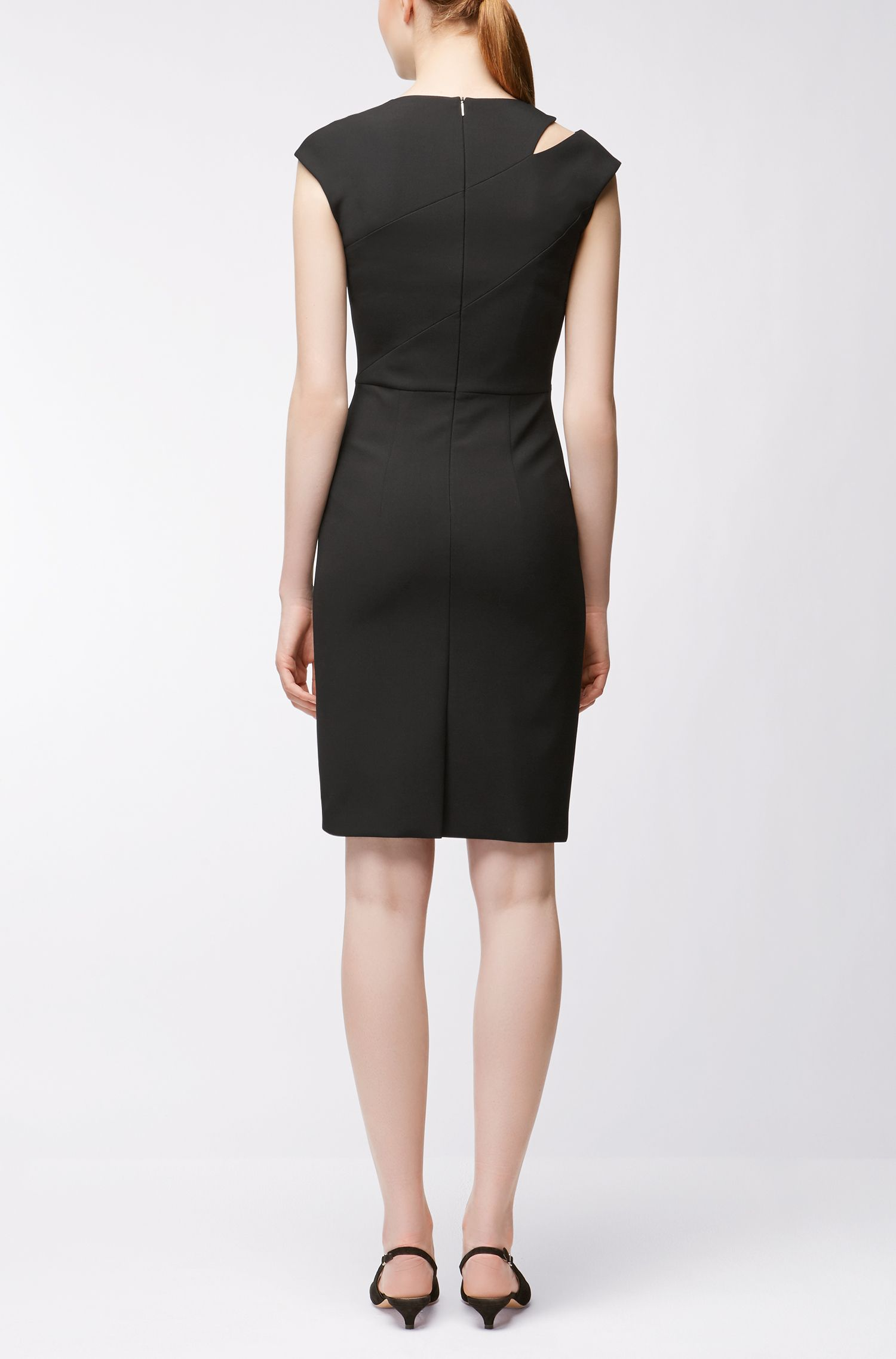 Crepe Shift Dress | Danouk, Black