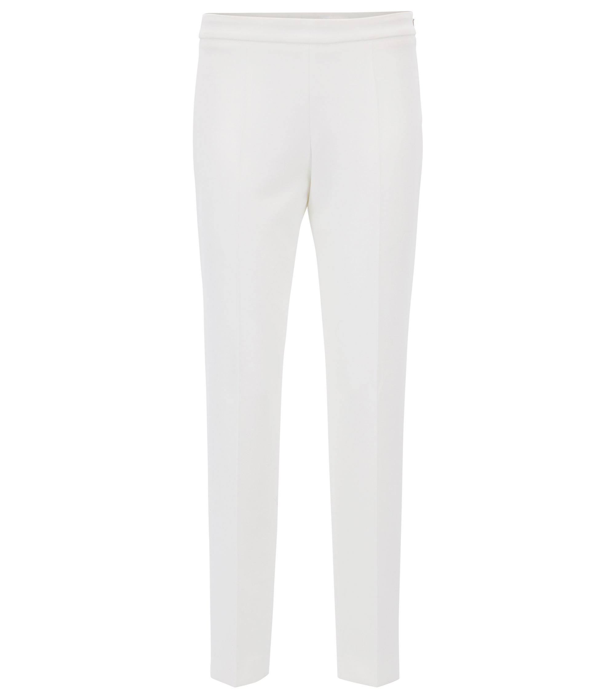 Stretch Crepe Dress Pant | Tiluna Side Zip, Natural