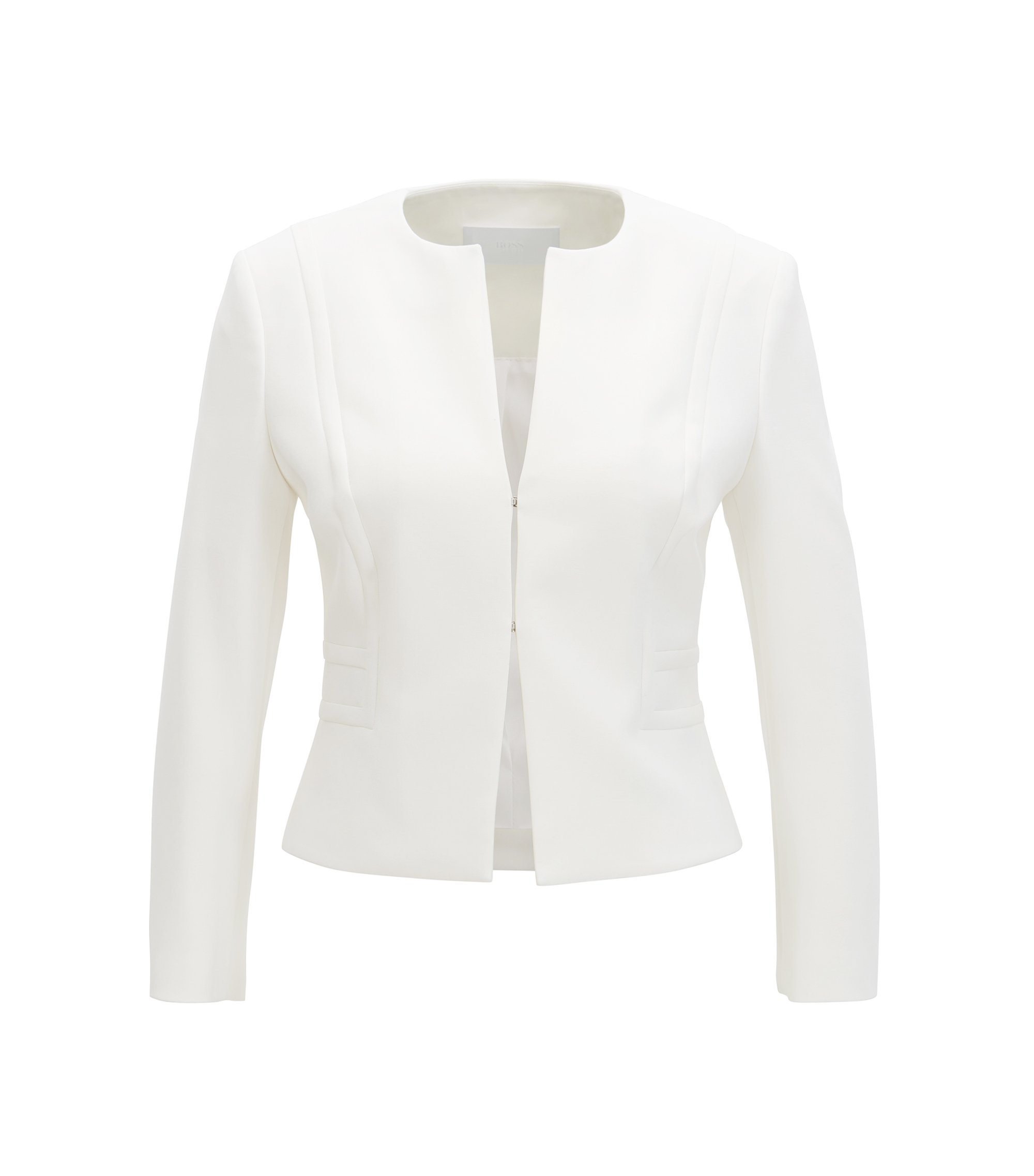 Cropped Blazer | Jadama, Natural