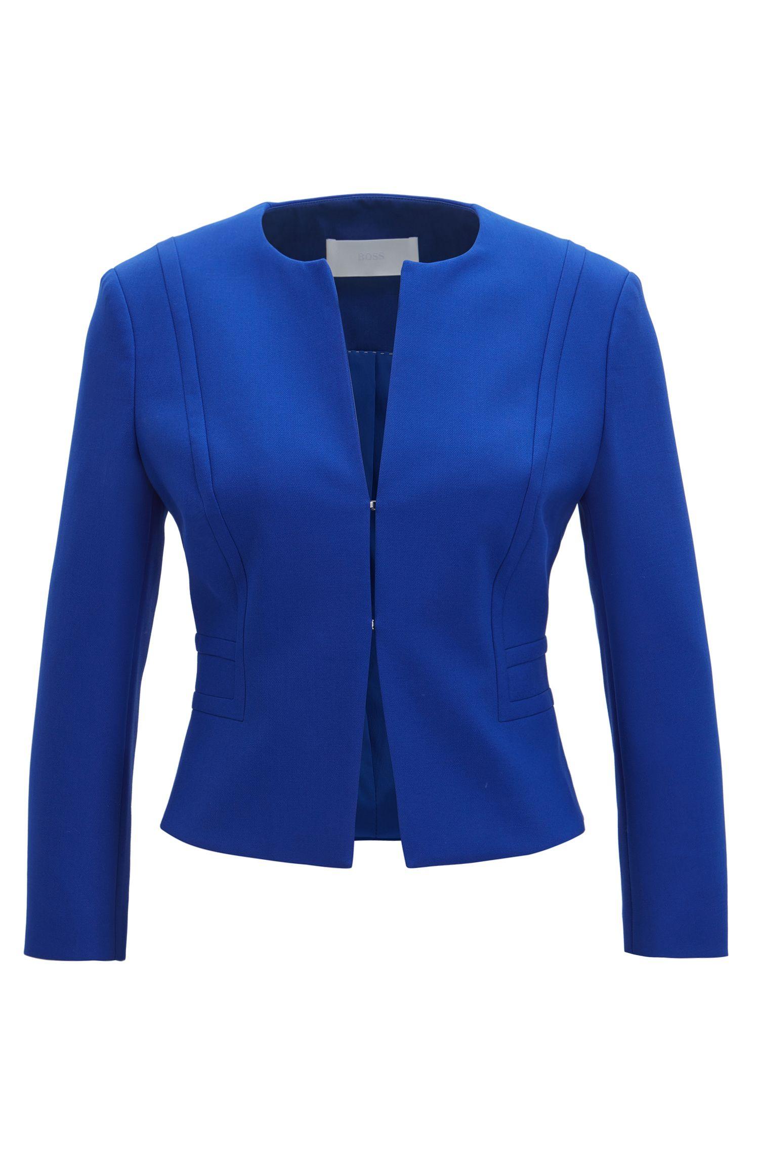 Cropped Blazer | Jadama, Blue