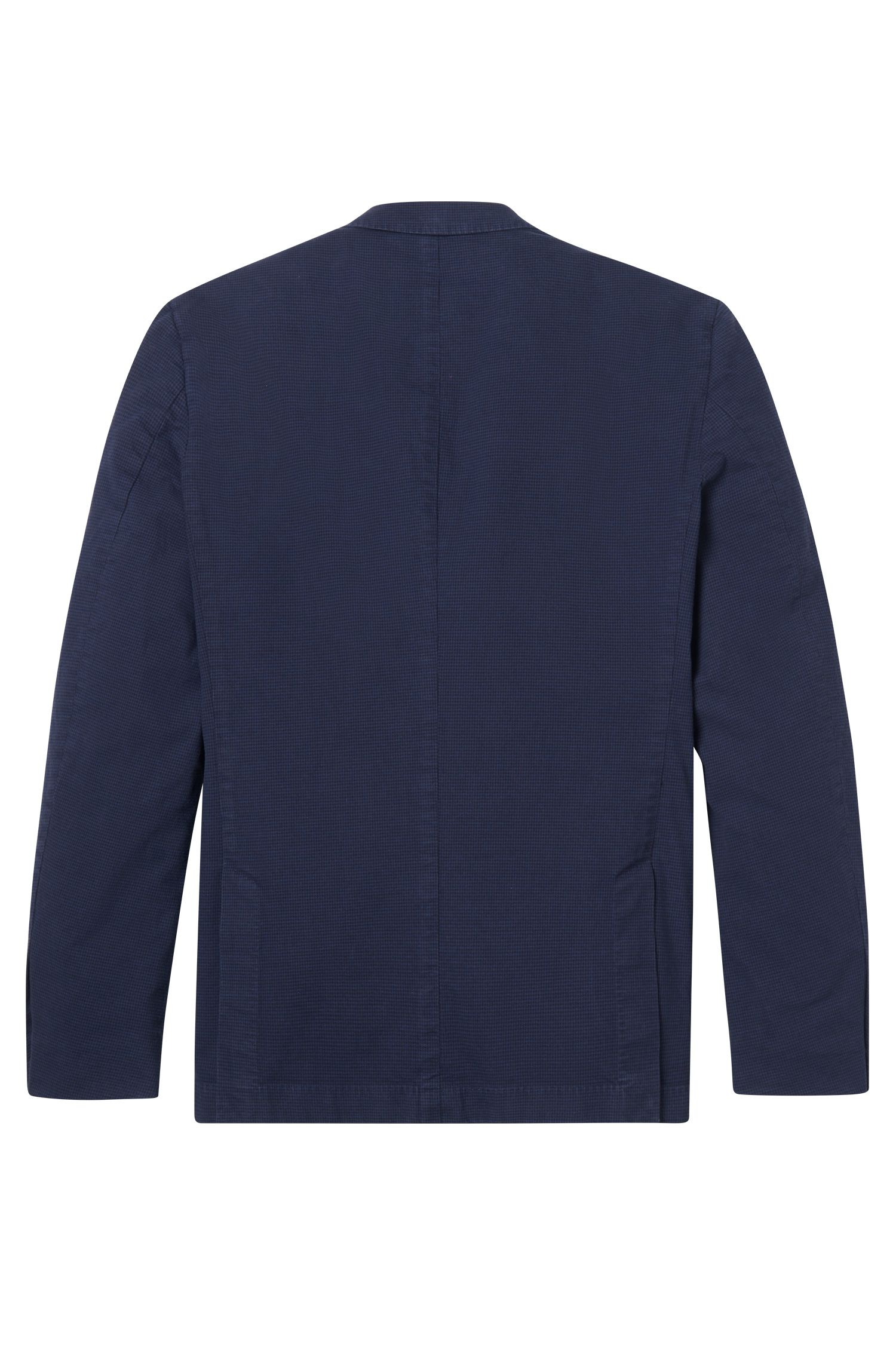 Garment-Dyed Stretch Cotton Sport Coat, Slim Fit   Hanry D