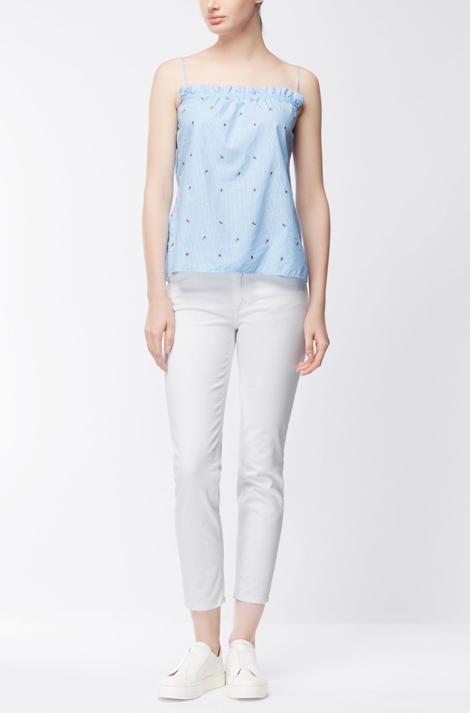 Streth Cotton Jean | Nelin , White
