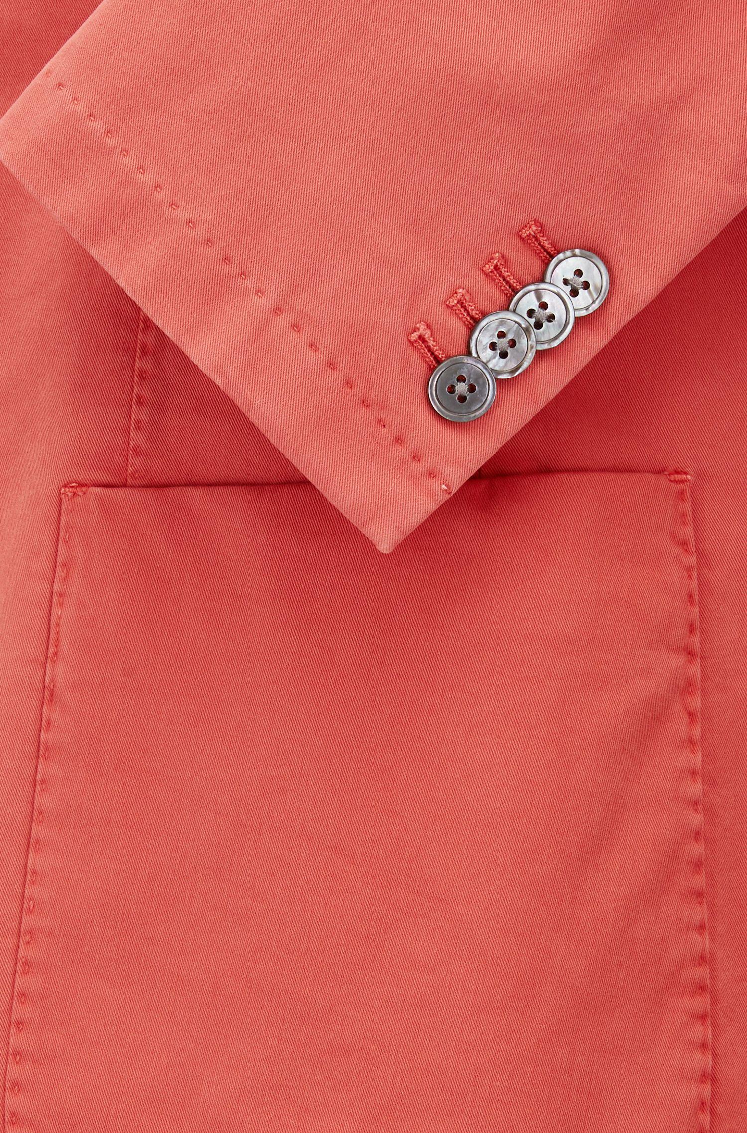Garment-Dyed Stretch Cotton Sport Coat, Slim Fit | Hanry D