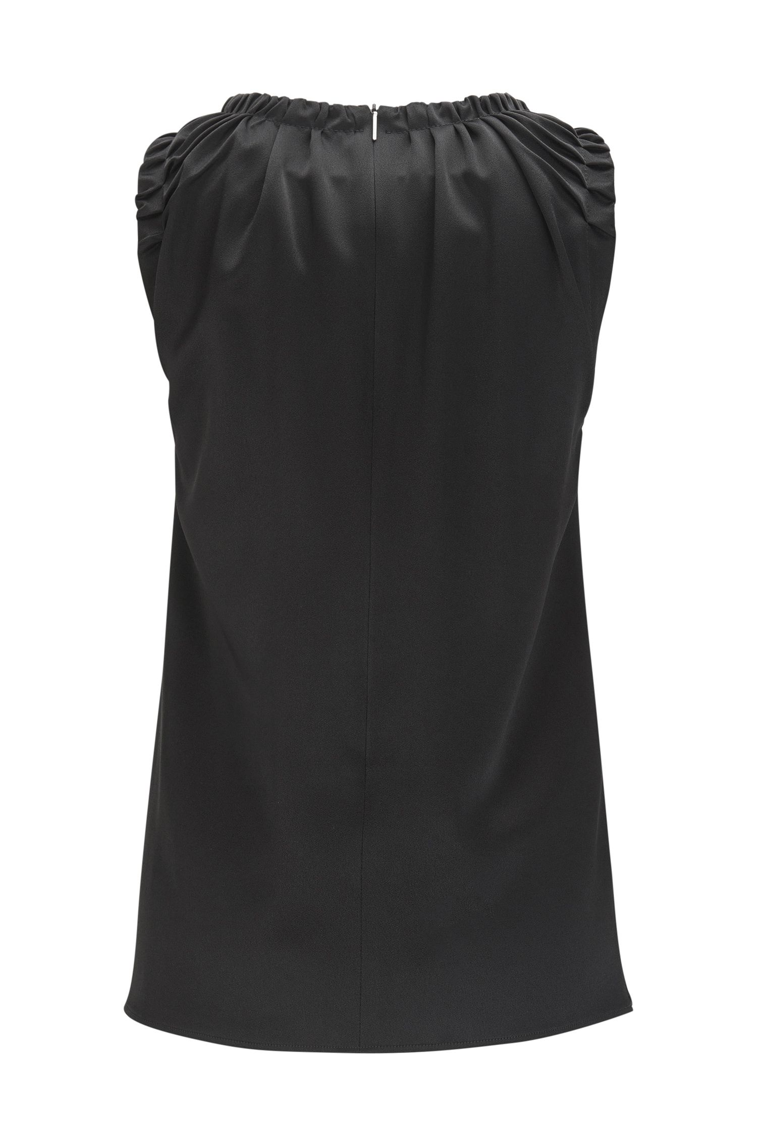Ruffled Top | Ivancia, Black