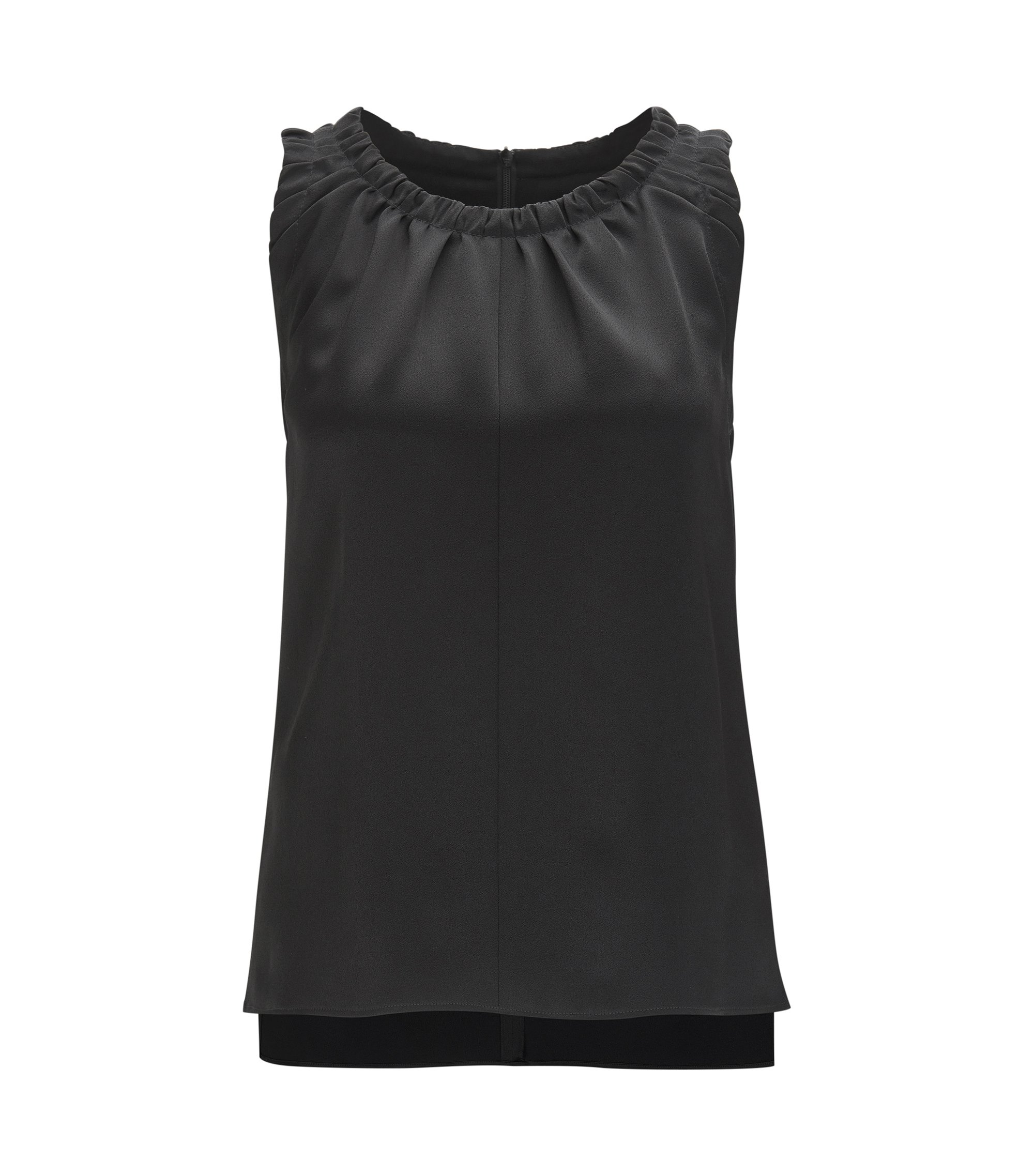 Ruffled Top | Ivancia, Black