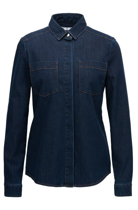 e8b61a8e31f BOSS - Dark Wash Denim Shirt