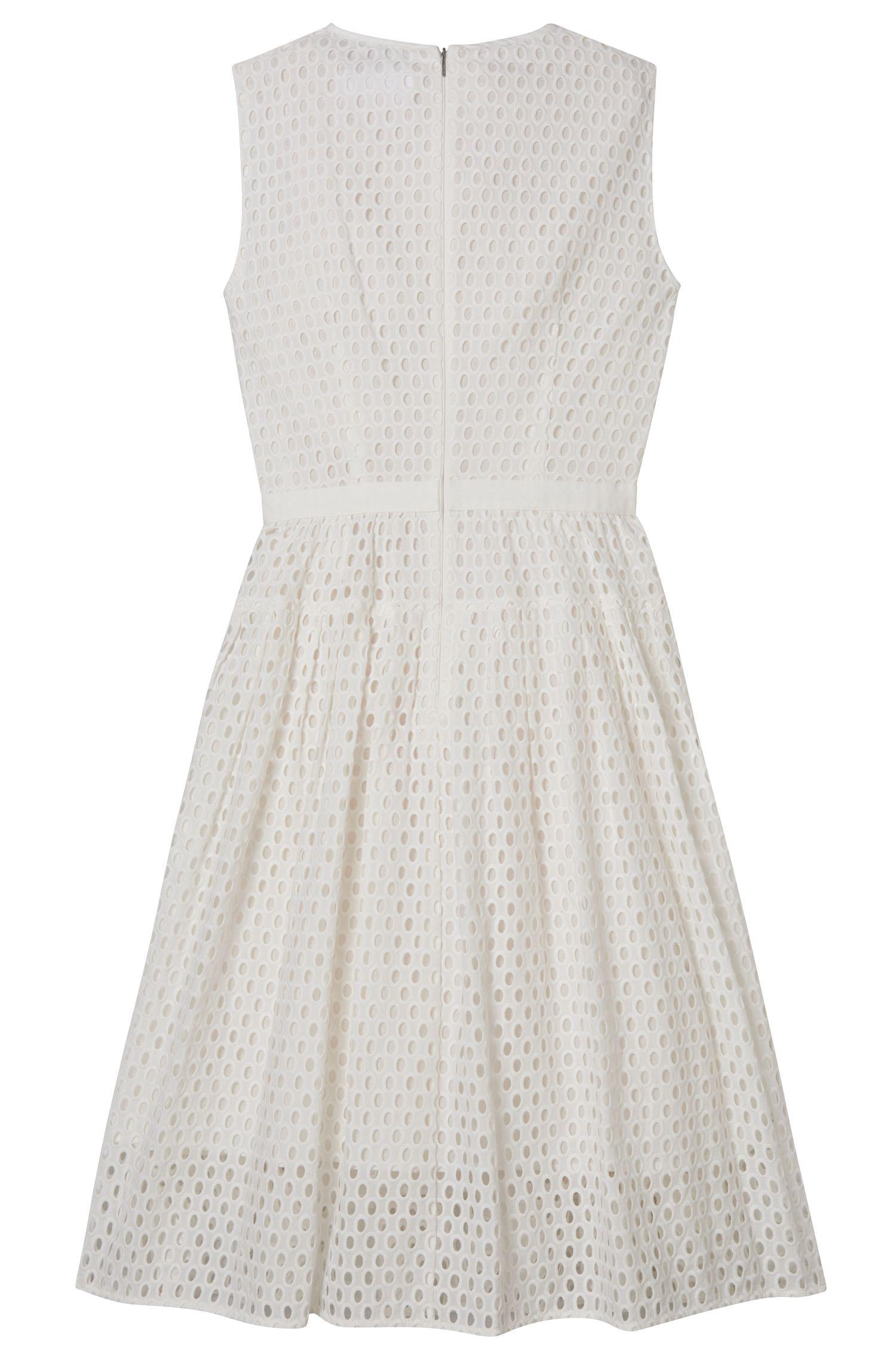 Sleeveless Broderie Anglaise Dress | Dafalia, Natural
