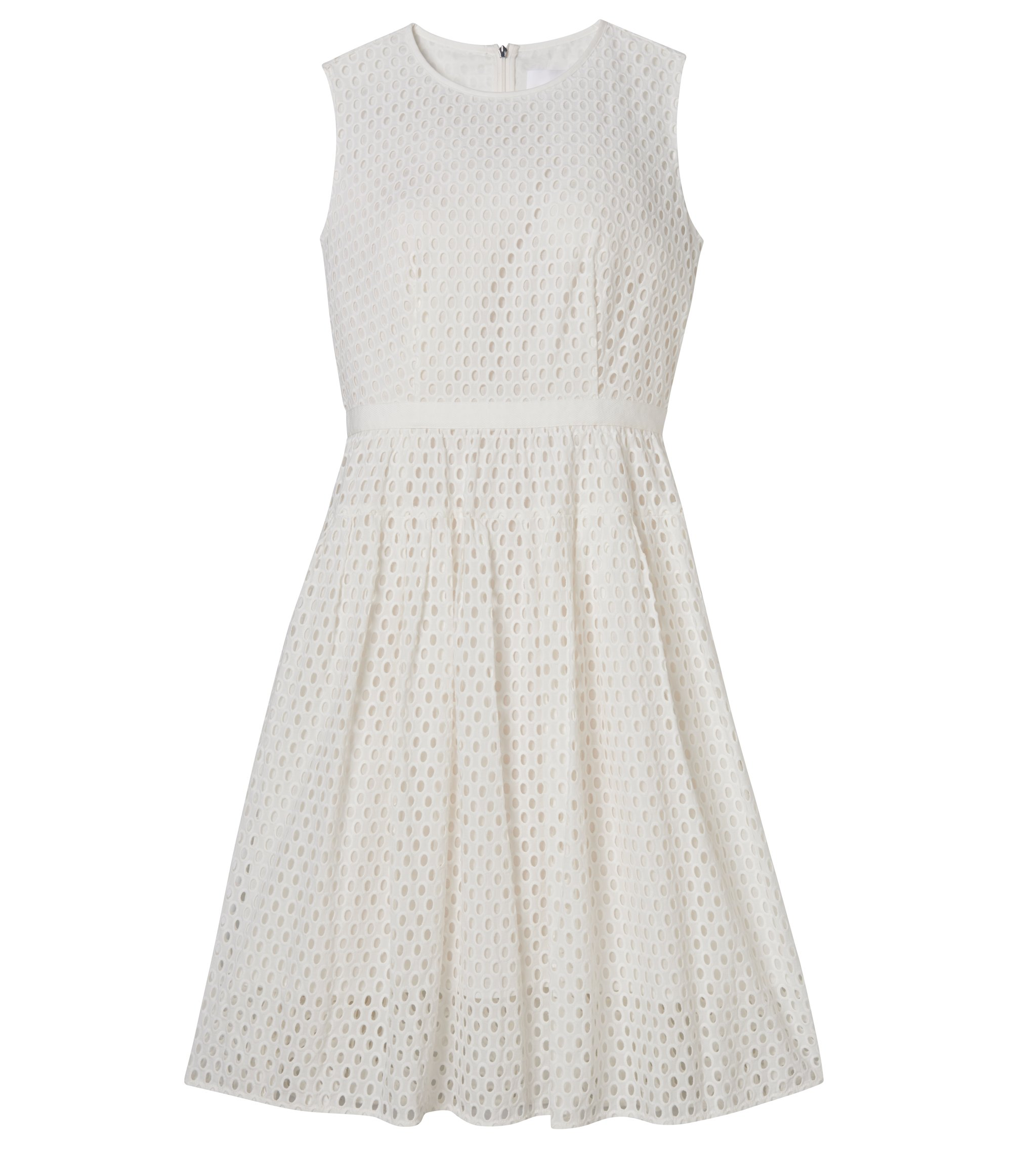 Sleeveless Broderie Anglaise Dress | Dafalia, Natural