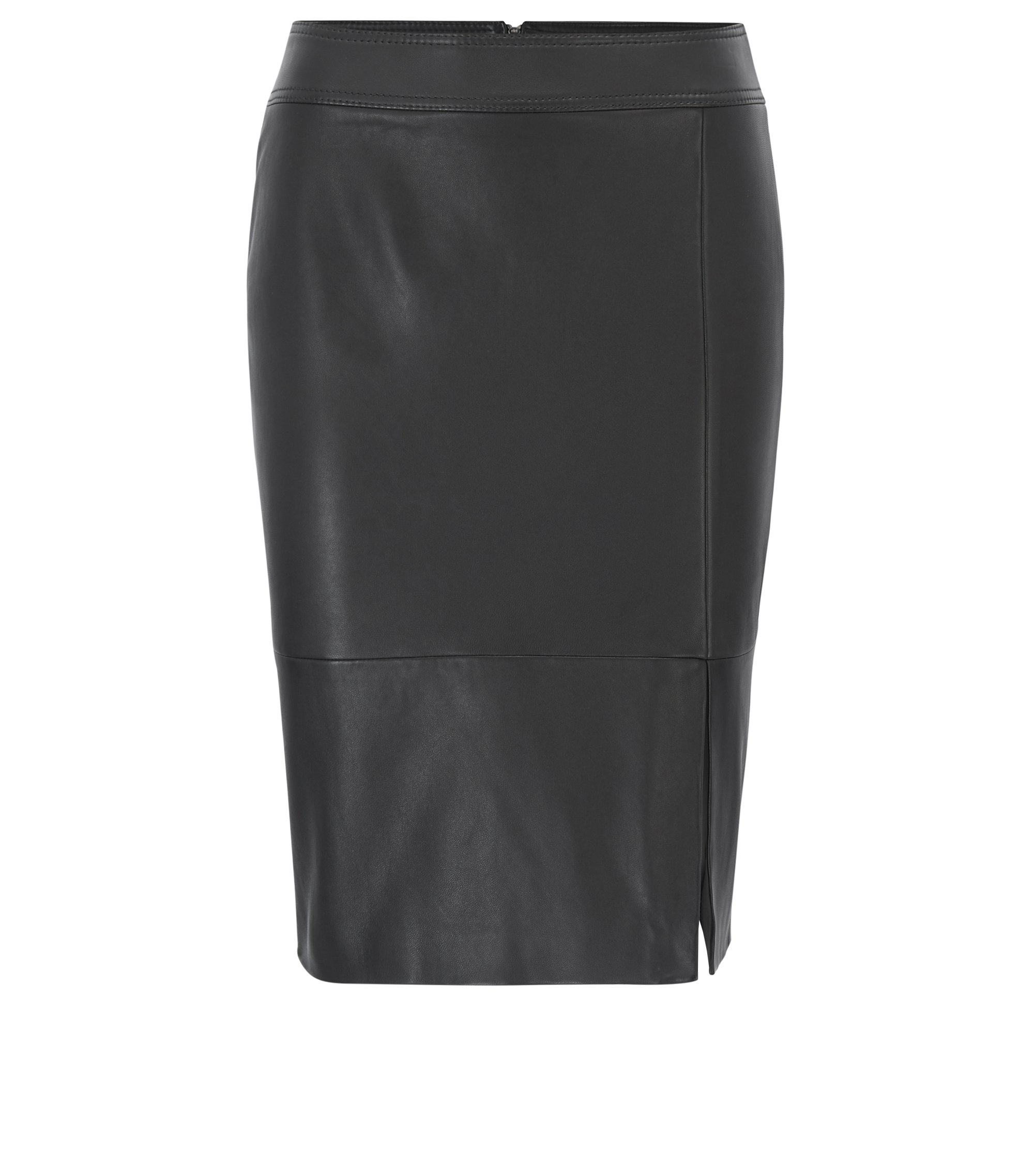 Lambskin Leather Skirt | Sefina, Black