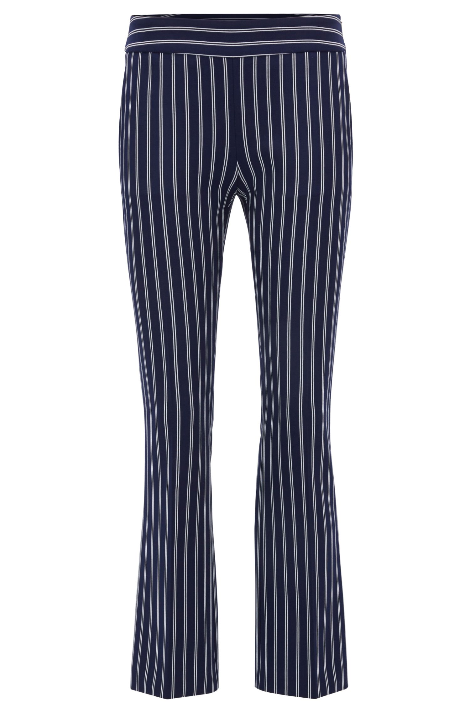 Striped Cropped Pant | Tebella