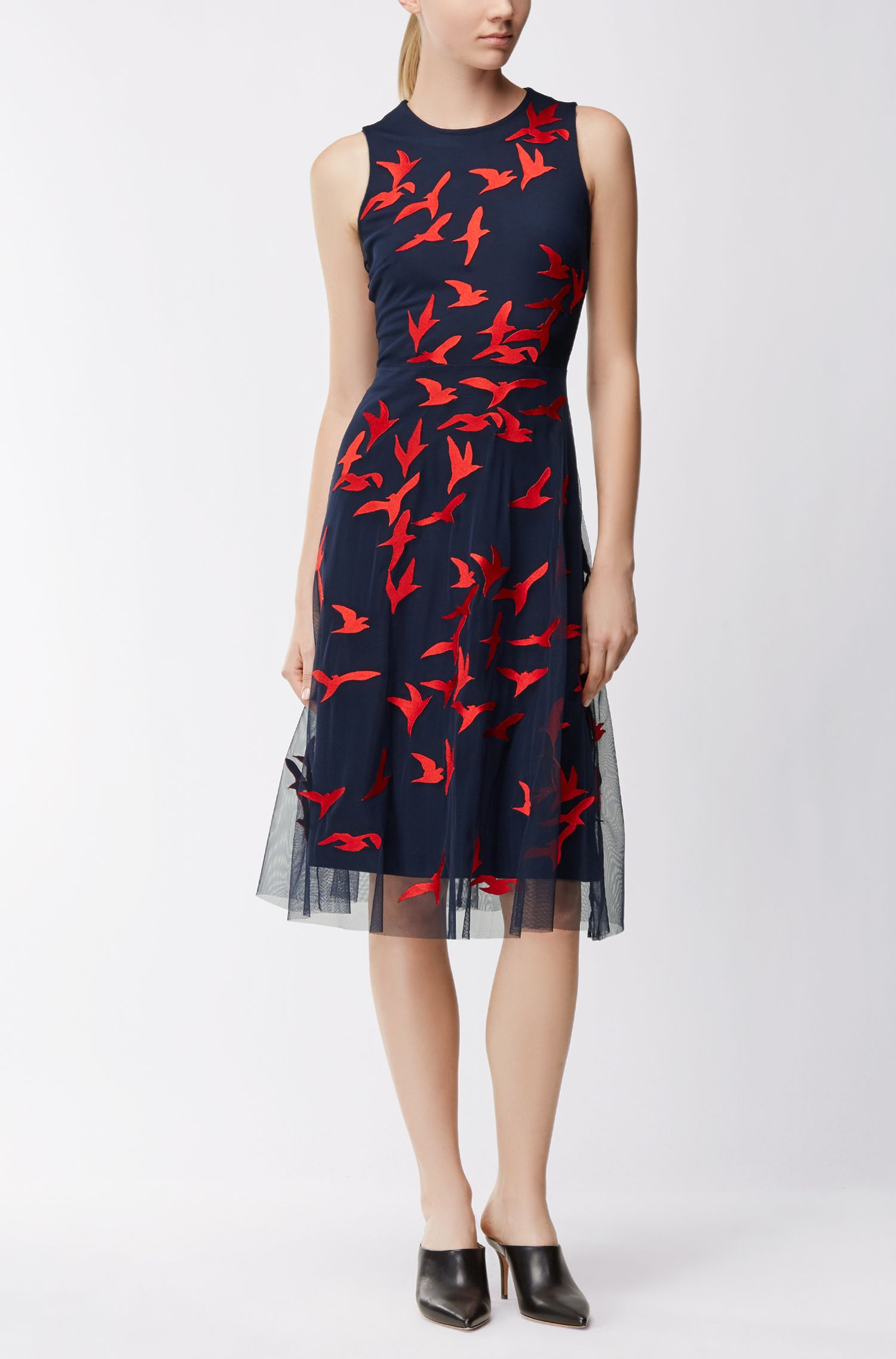 Bird Print Dress | Enerva, Patterned