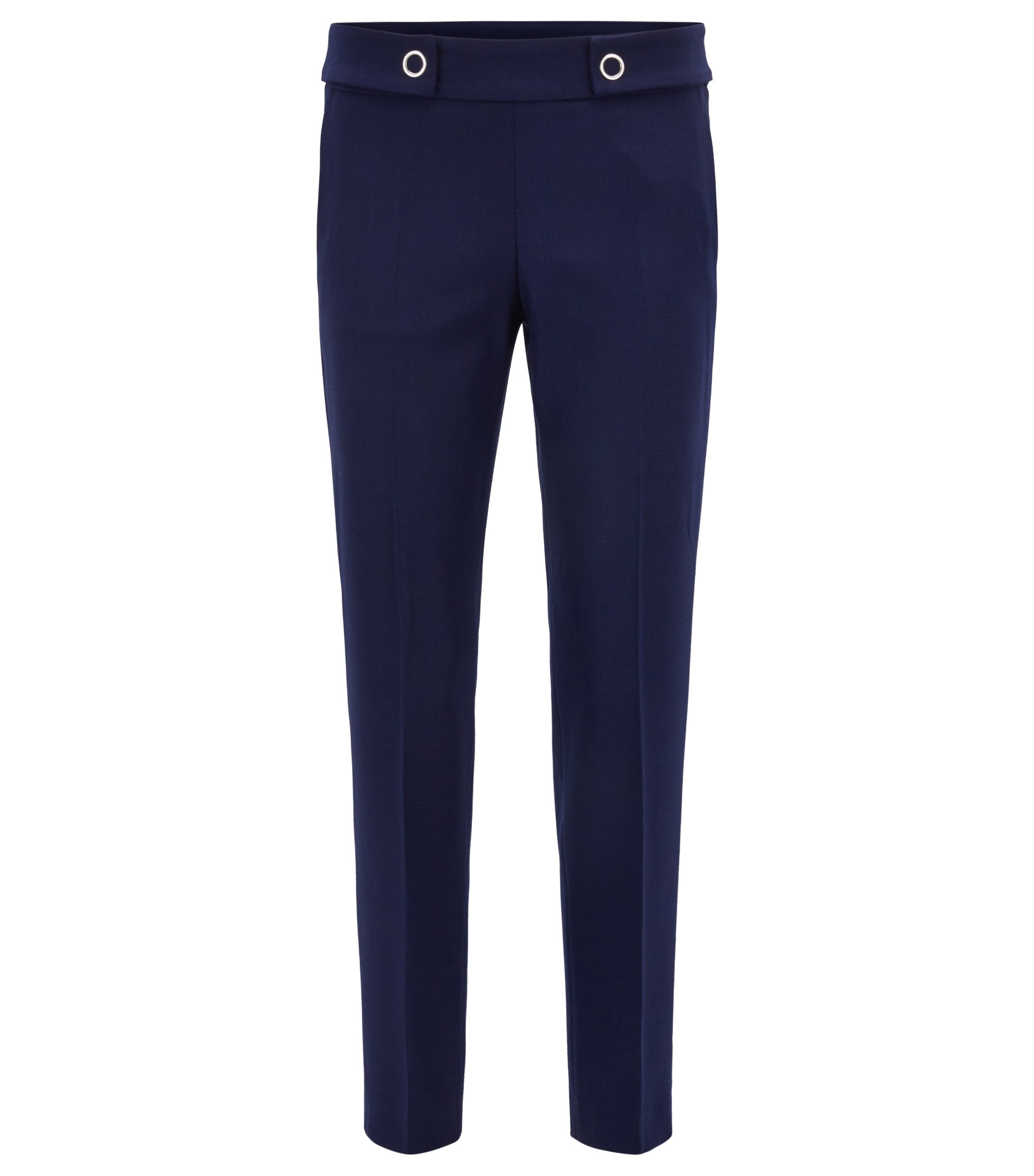 Slim-fit trousers in stretch fabric with elasticised waist BOSS