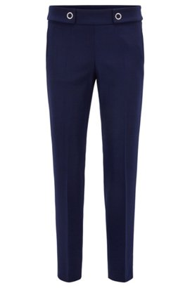 Slim-fit trousers in stretch fabric with elasticised waist BOSS 0y3KWDHS1