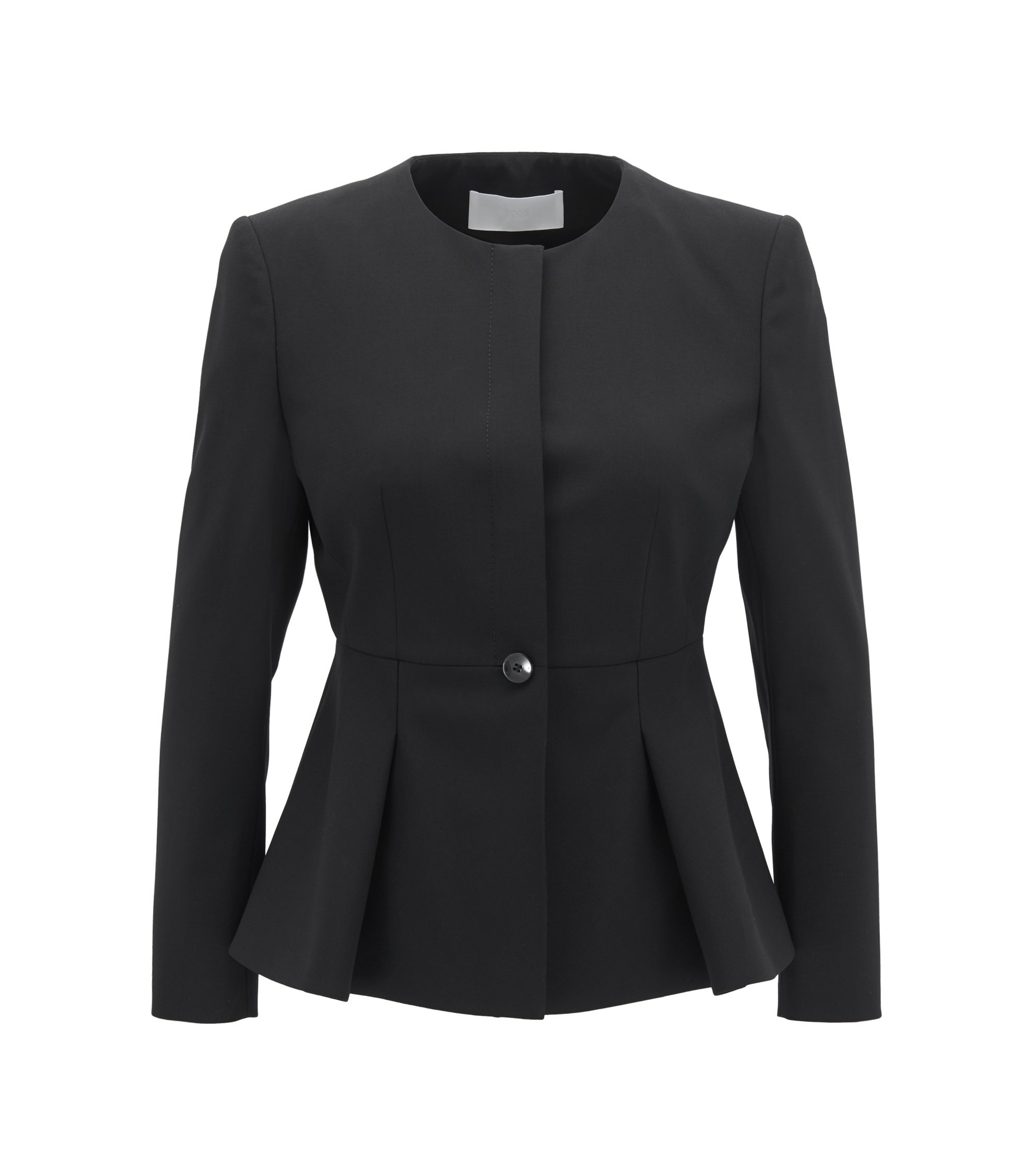 Stretch Virgin Wool Blazer | Jolanna, Black
