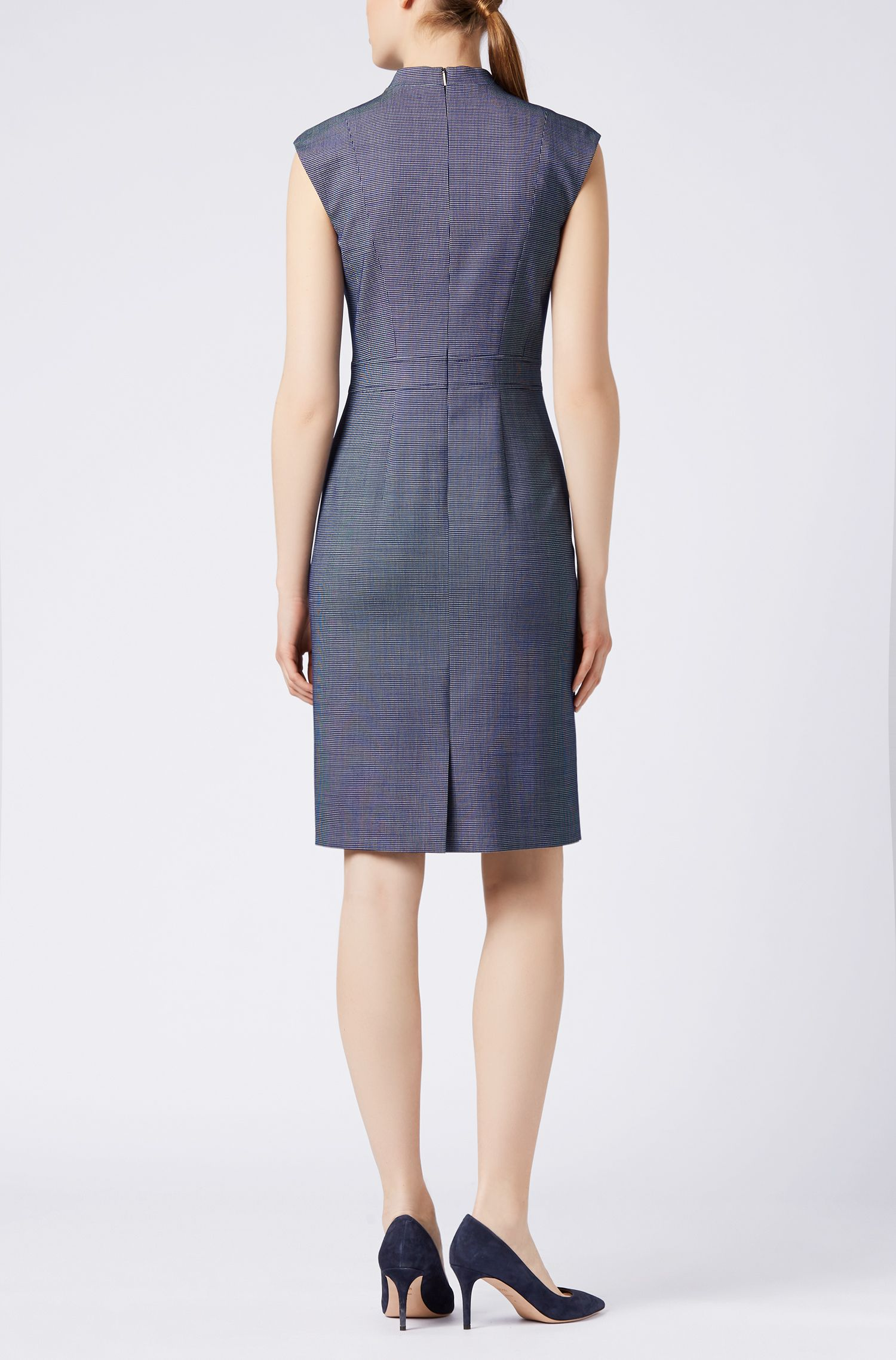 Stretch Wool Shift Dress | Difara, Patterned