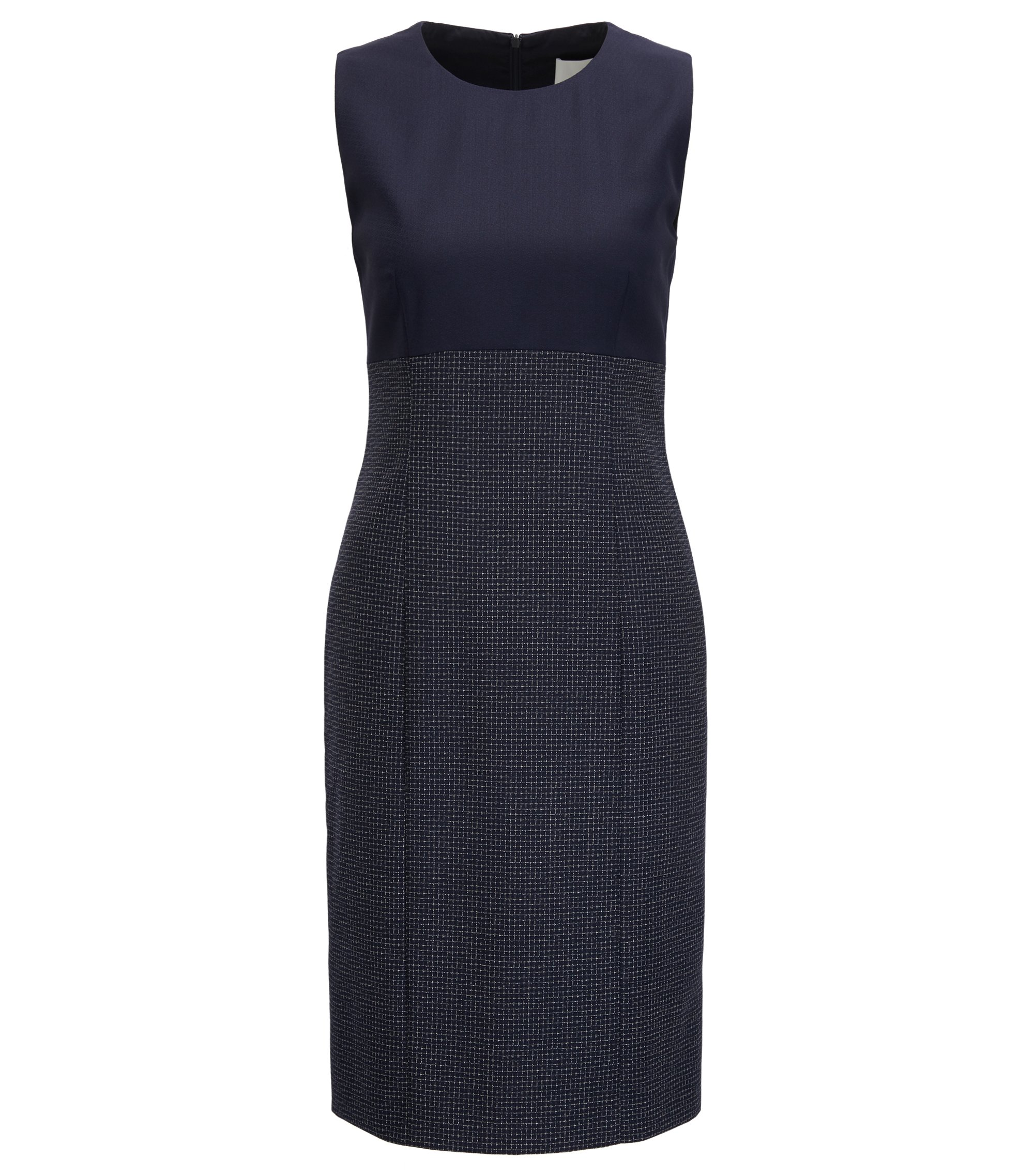 Wool Sheath Dress | Dibena, Patterned