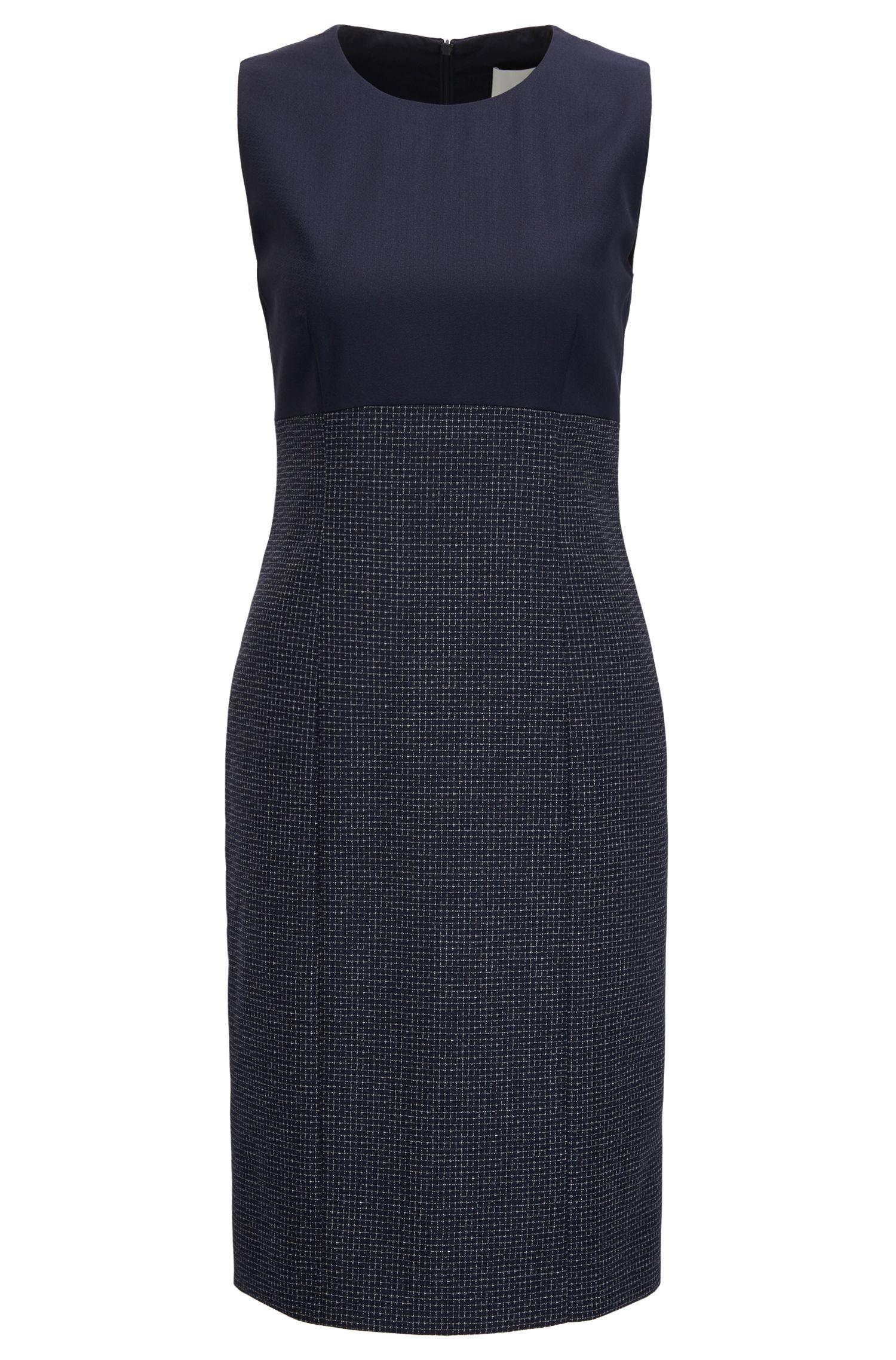 Wool Sheath Dress | Dibena, Patterned