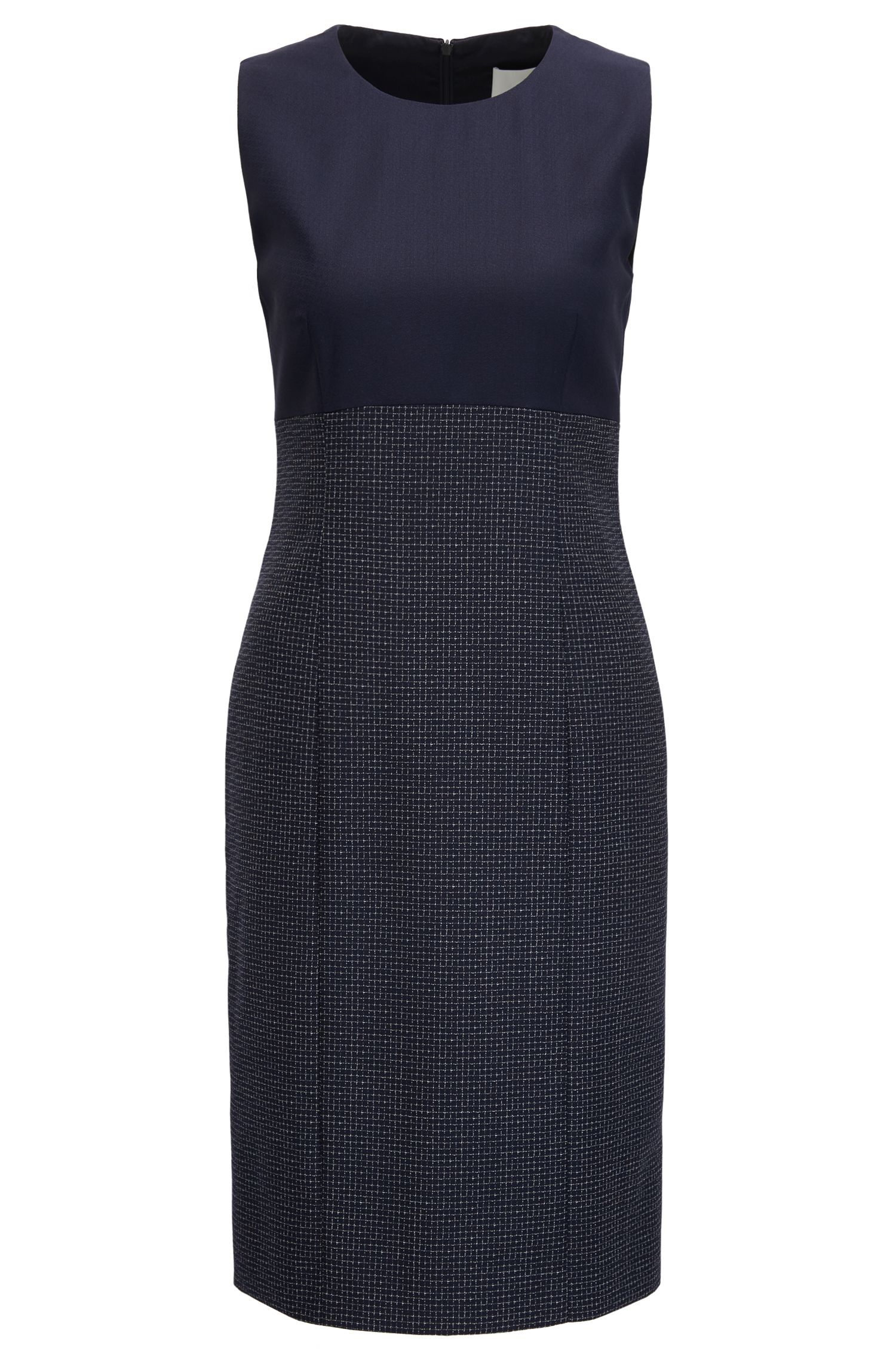 Wool Sheath Dress | Dibena