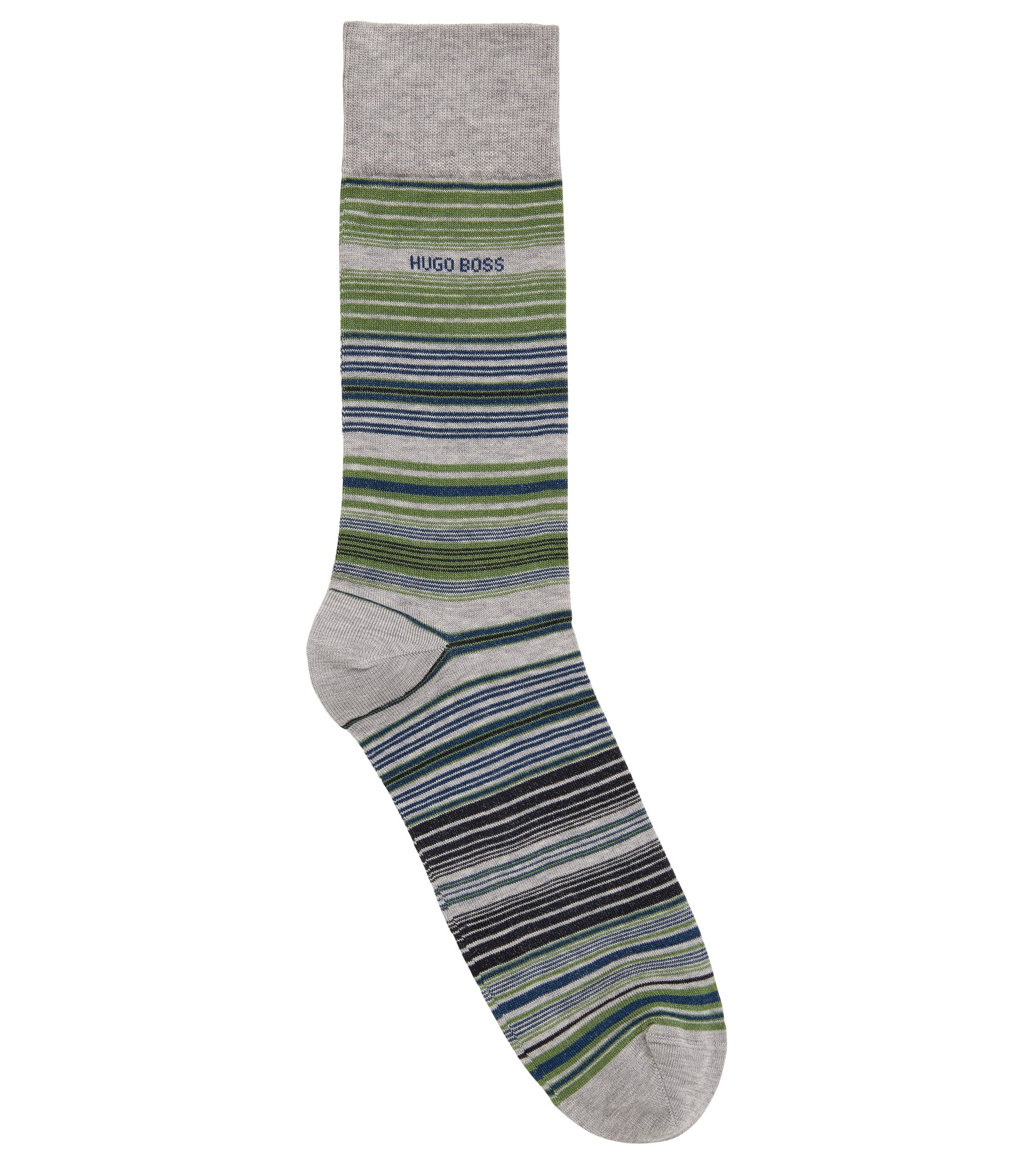 Striped Sock | RS Multistripe US MC, Silver