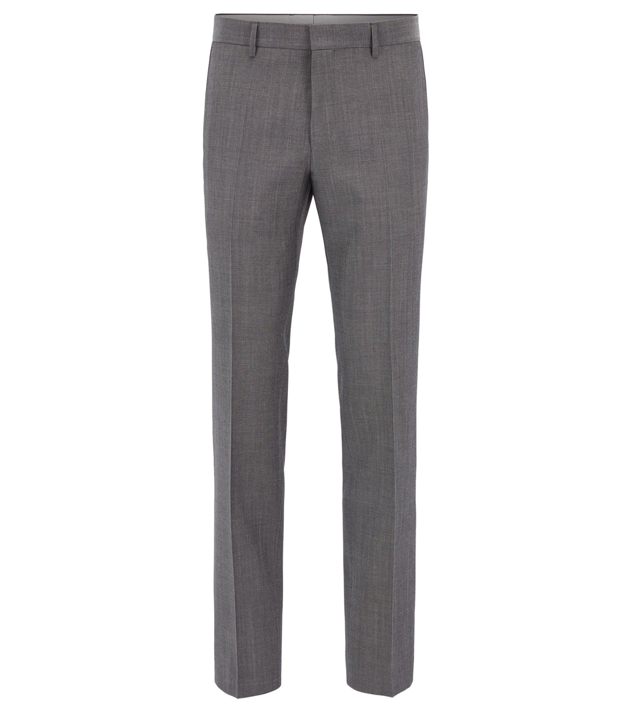 Heather Virgin Wool Dress Pant, Slim Fit | Giro, Grey