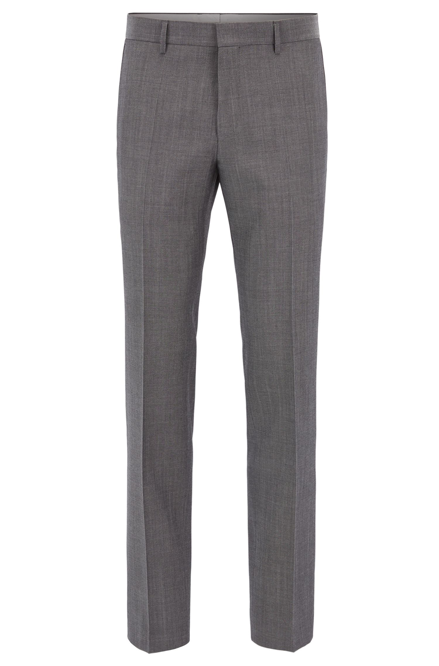 Heather Virgin Wool Dress Pant, Slim Fit | Giro, Grey
