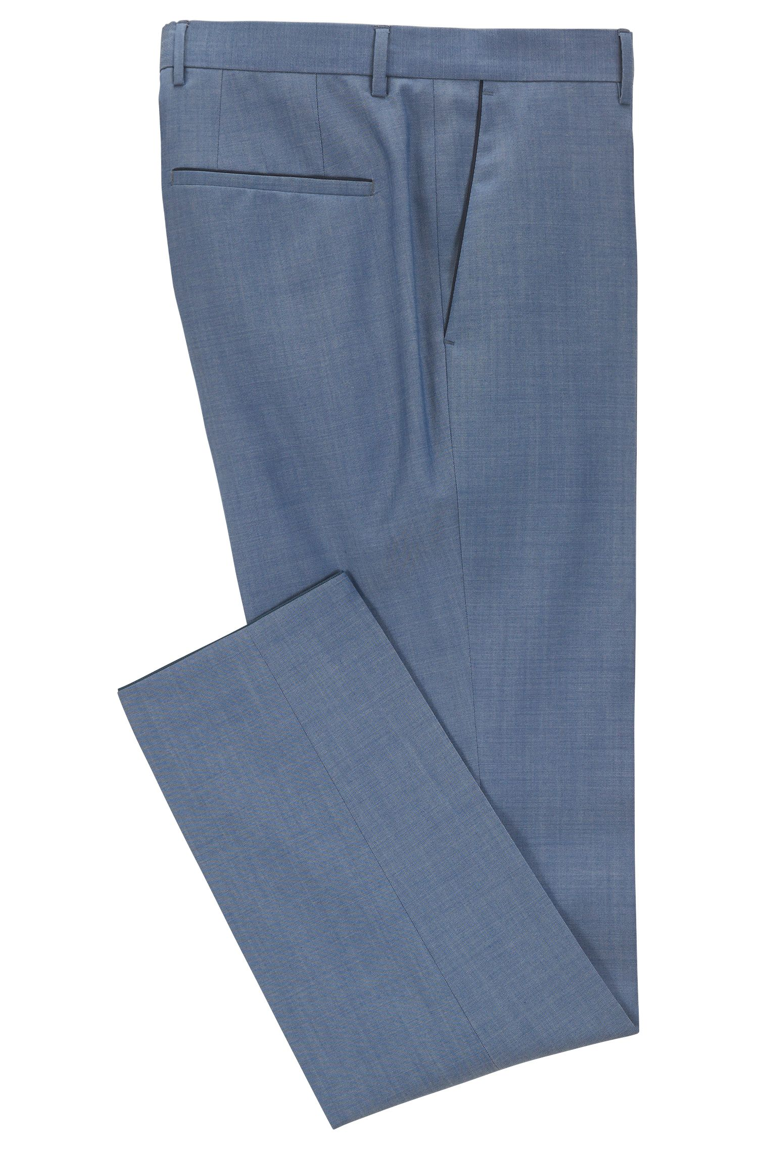 Heather Virgin Wool Dress Pant, Slim Fit | Giro, Blue