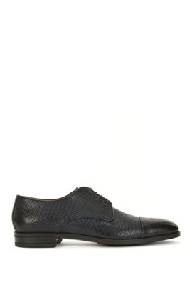 Embossed Leather Derby Shoe | Kensington Derb, Dark Blue