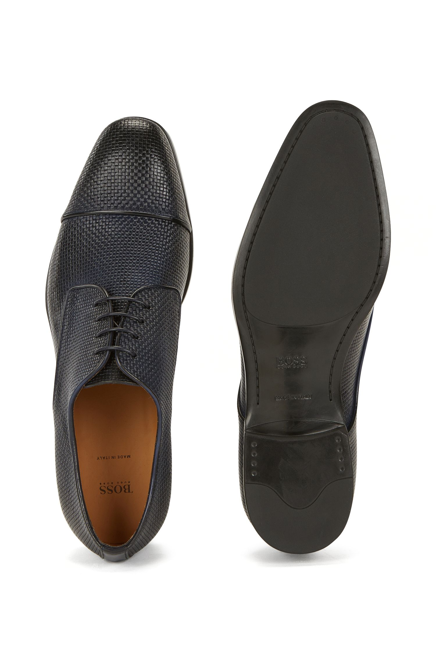 Embossed Leather Derby Shoe | Kensington Derb