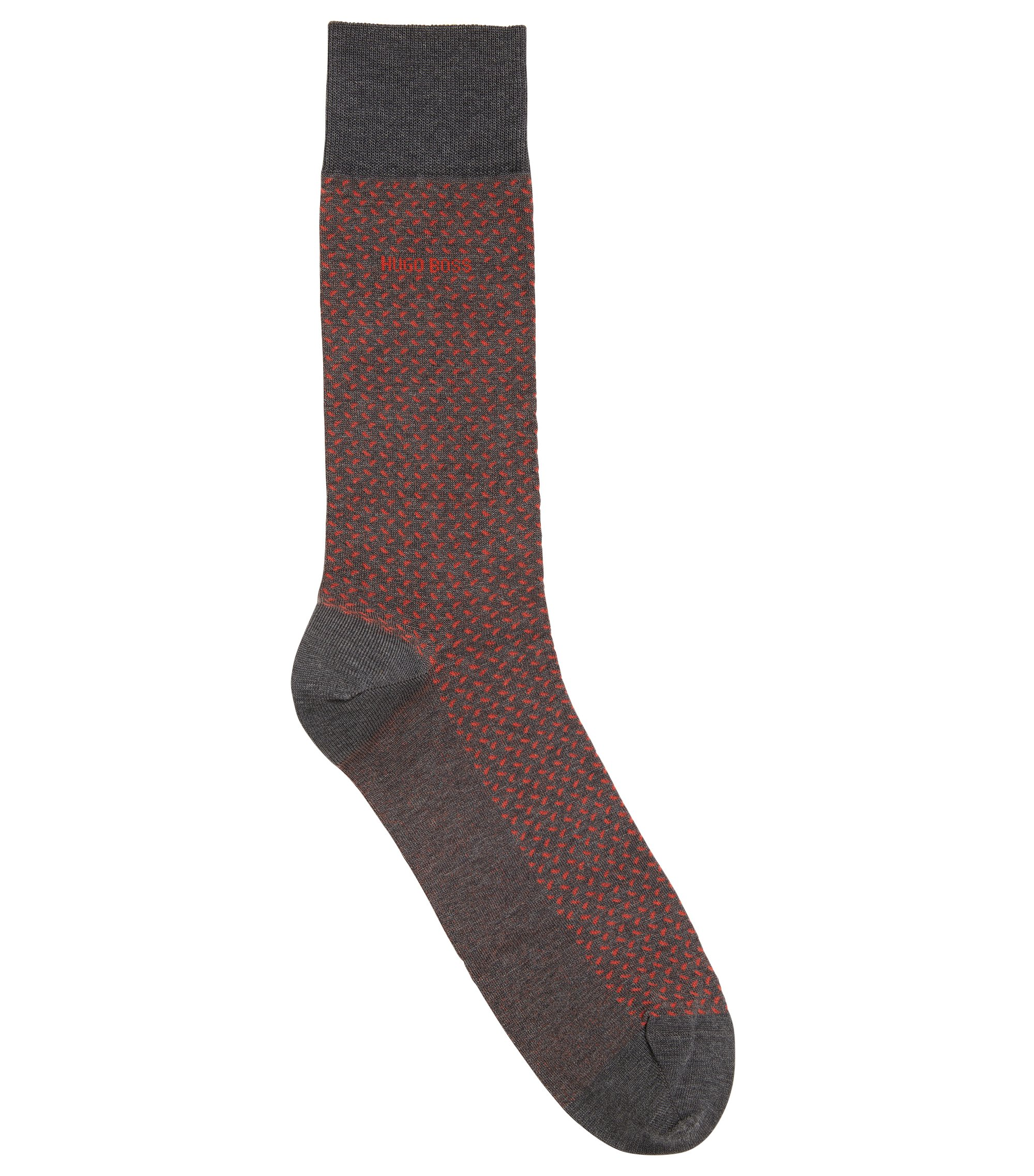 Patterned Cotton Blend Sock | RS MiniPattern US MC, Grey