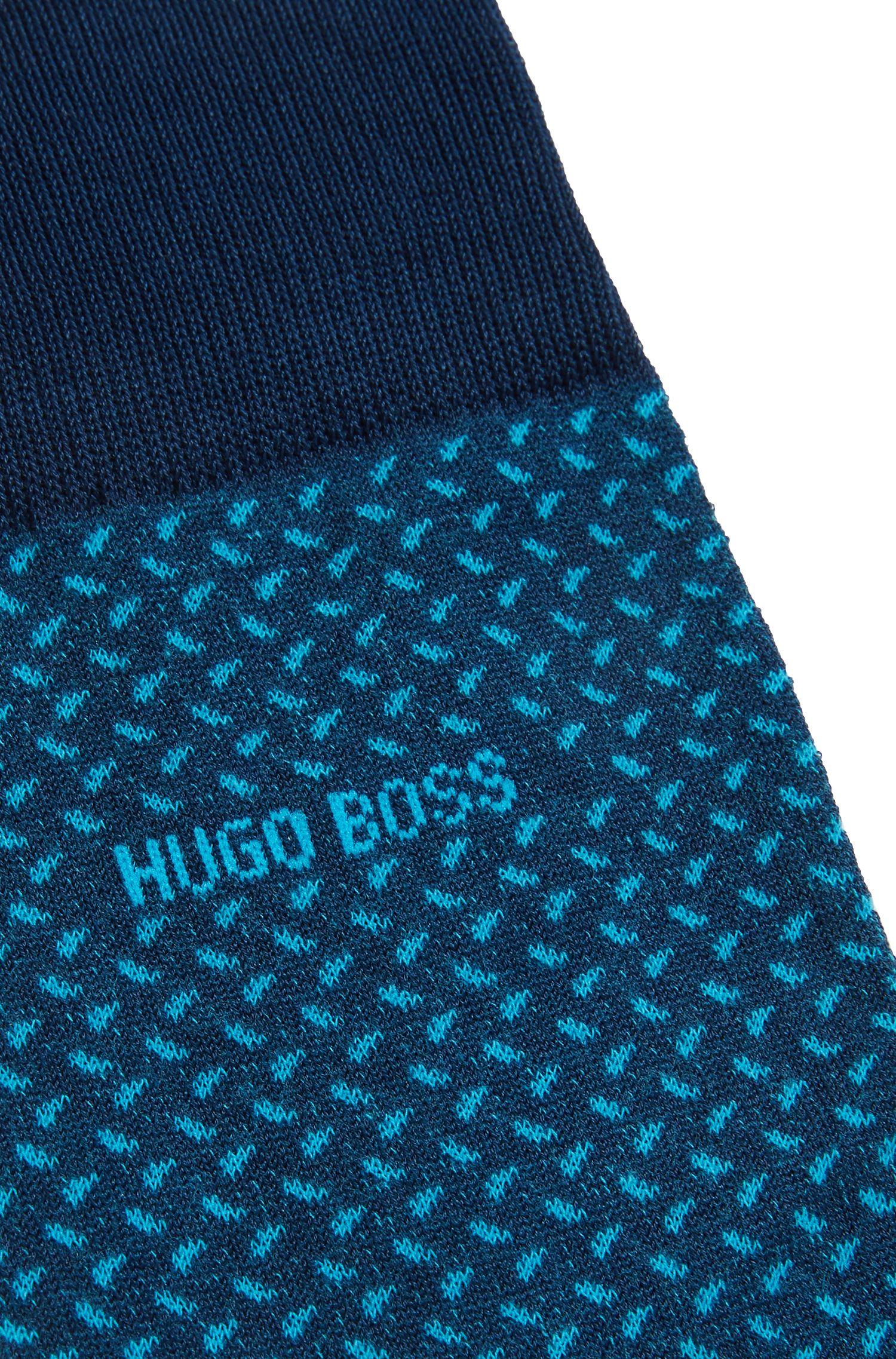 Patterned Cotton Blend Sock | RS MiniPattern US MC, Dark Blue