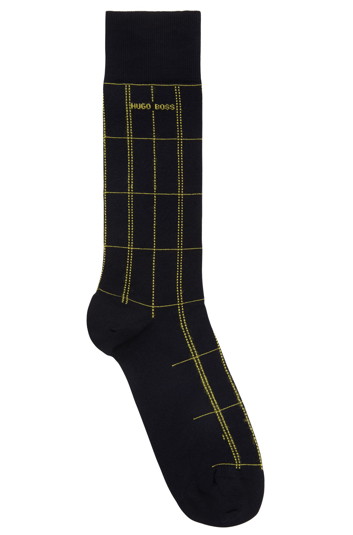 Plaid Sock | RS Check US MC, Dark Blue