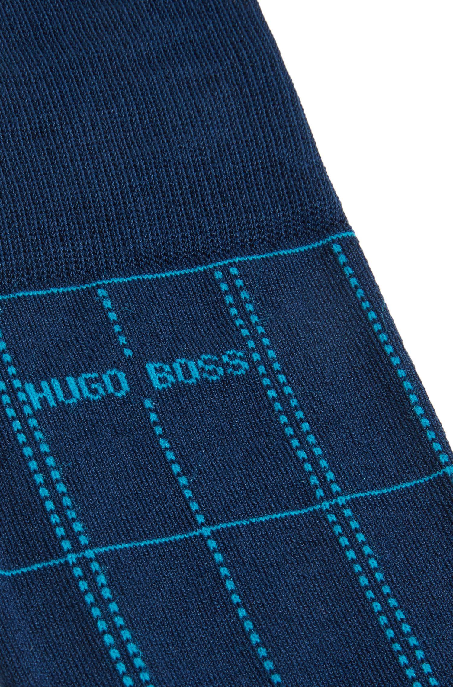 Plaid Sock | RS Check US MC, Dark Blue