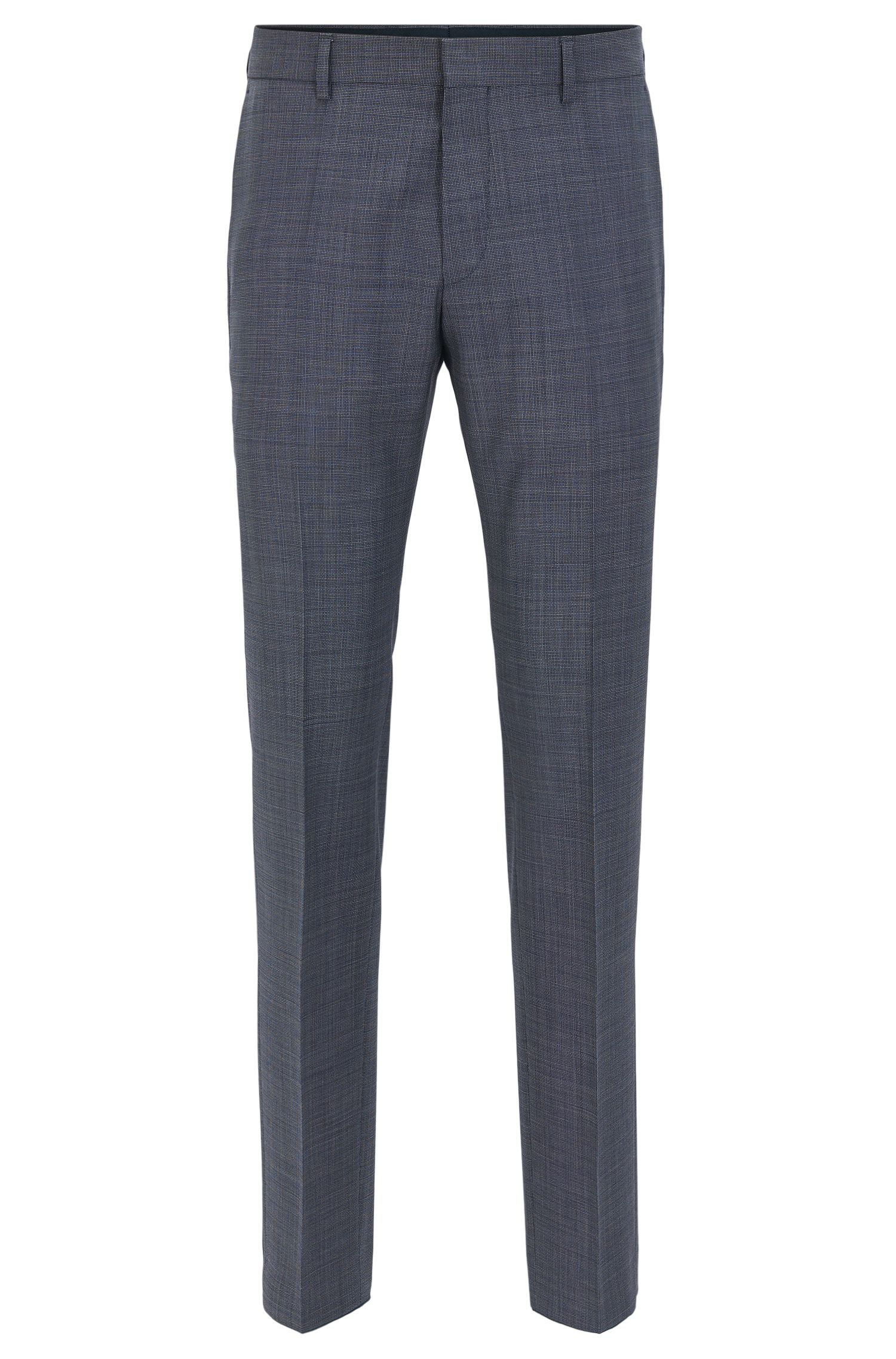 Virgin Wool Dress Pant, Slim Fit | Genesis, Turquoise