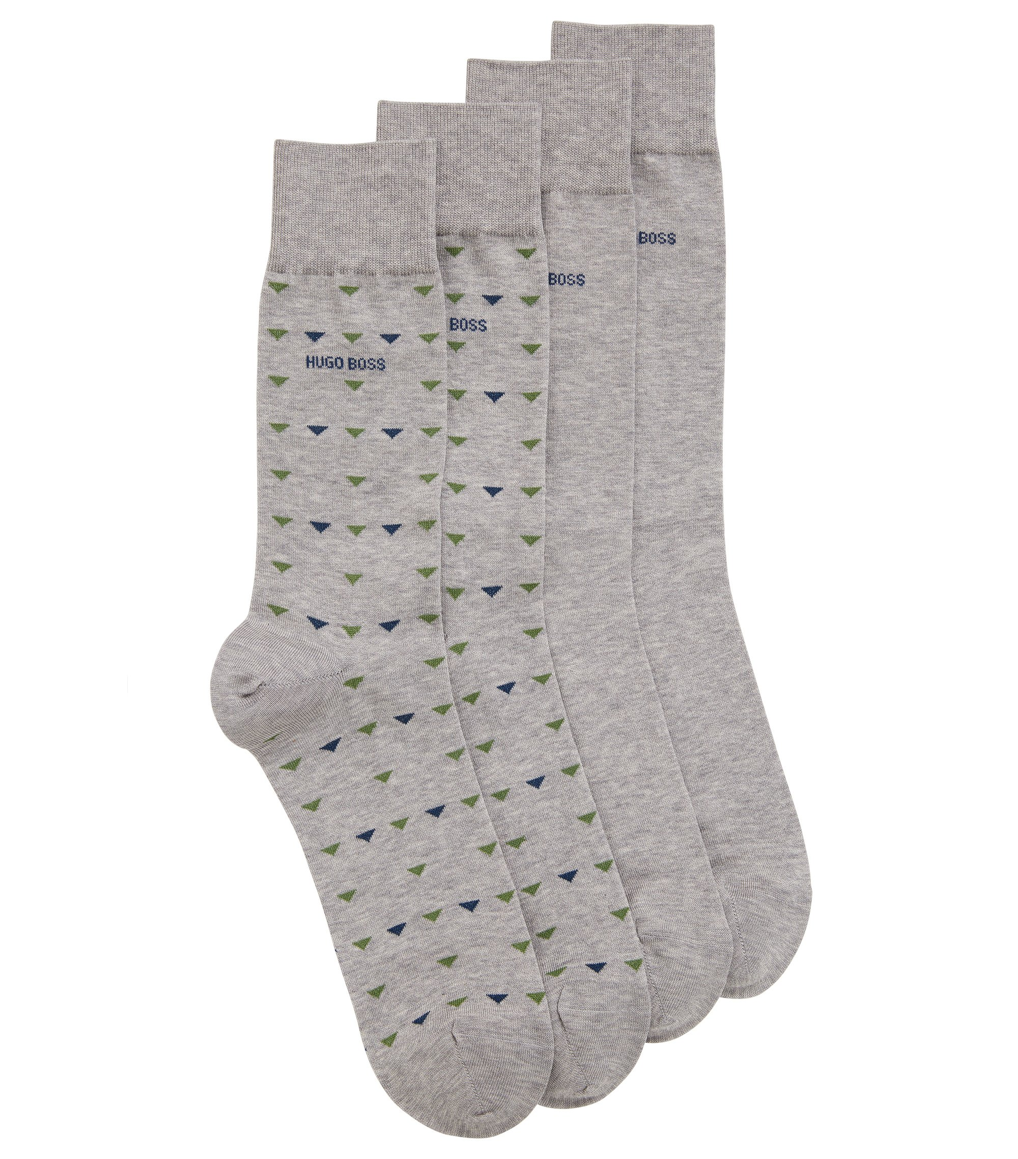 Stretch Cotton Socks, 2 Pack | 2P RS Triangle US MC, Silver