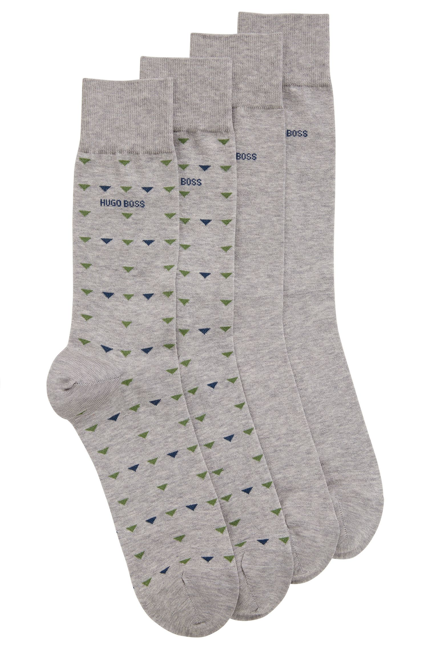 Stretch Cotton Socks, 2 Pack | 2P RS Triangle US MC
